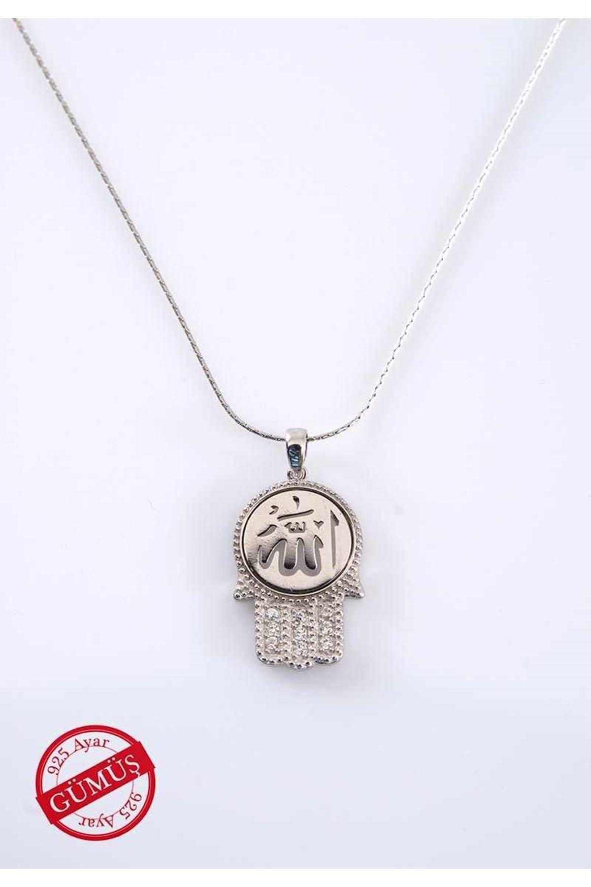 Allah Yazılı Fatmanın Eli Gümüş Kolye Gk-74978