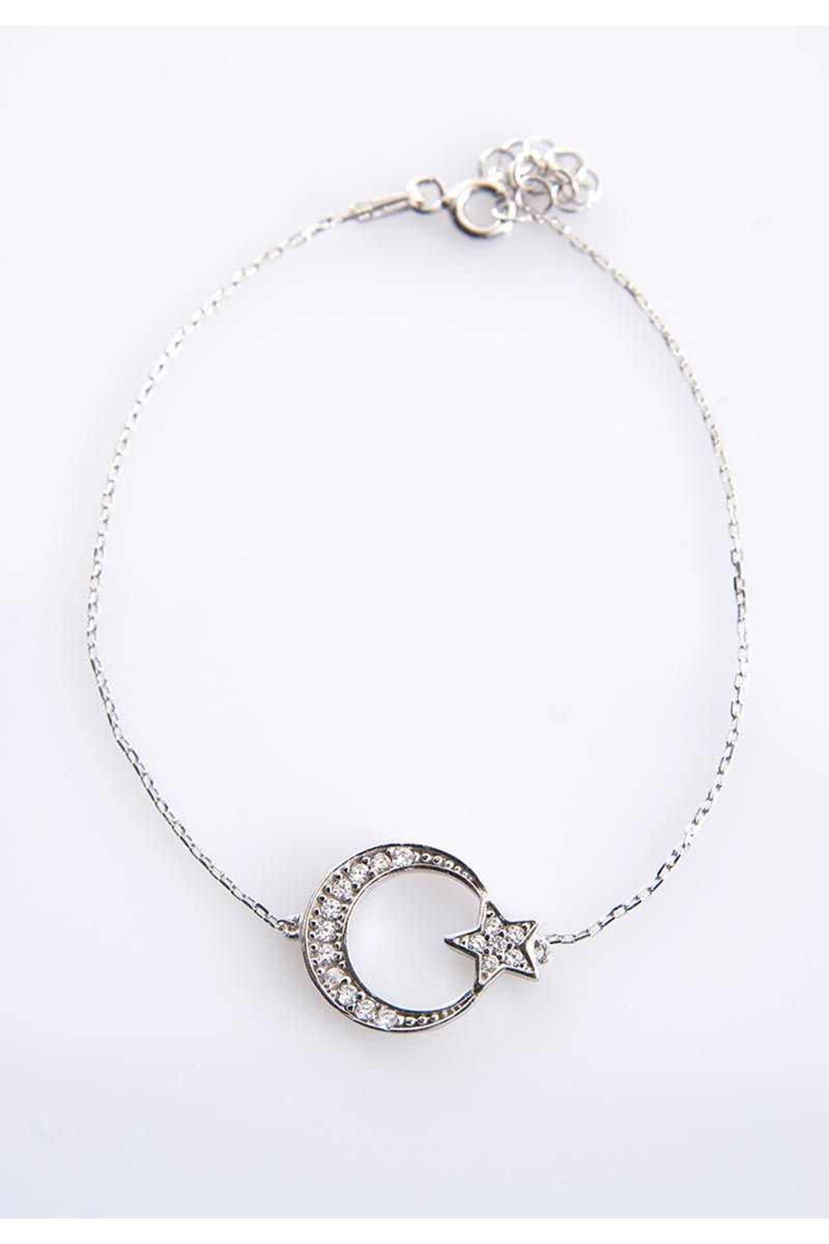Ay Yıldız Gümüş Bileklik 77453