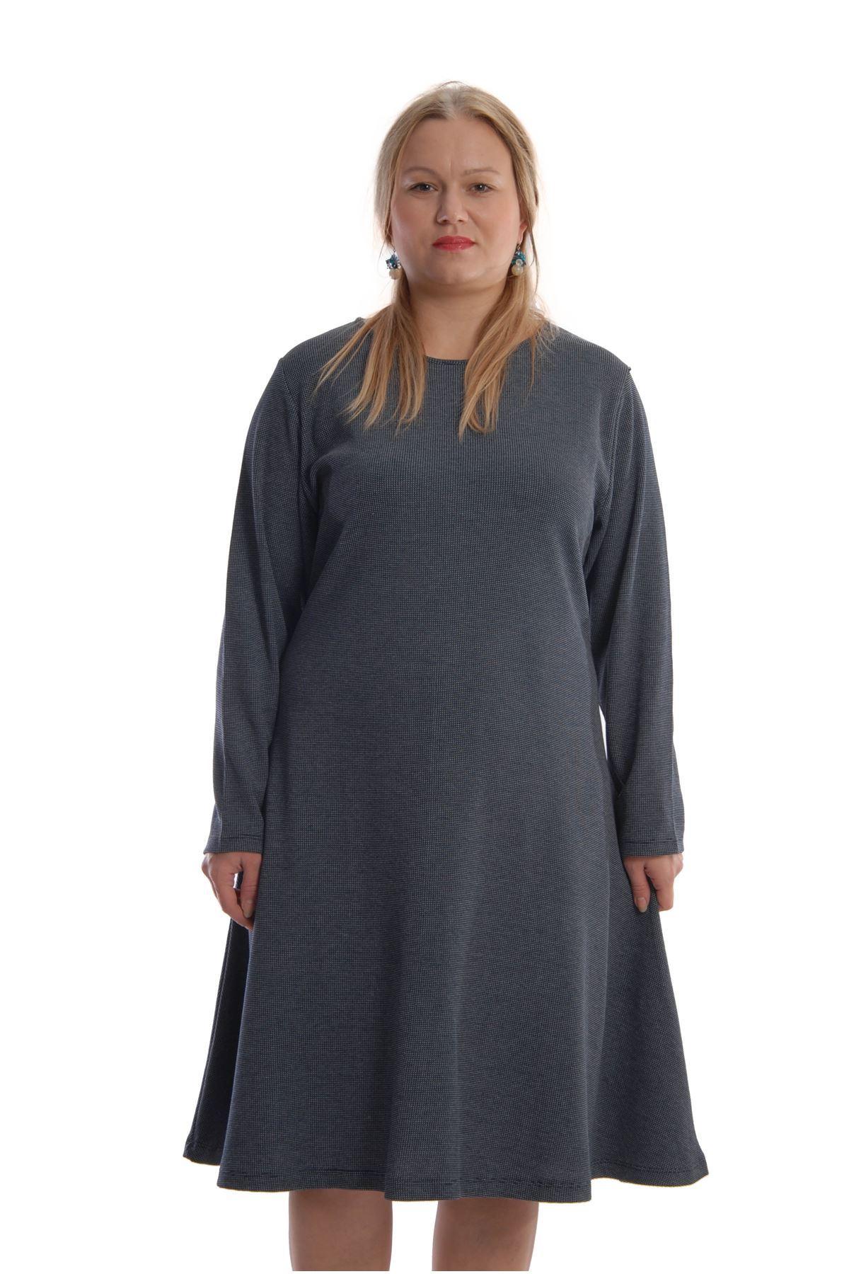 Büyük Beden Desenli Elbise 21B-68726