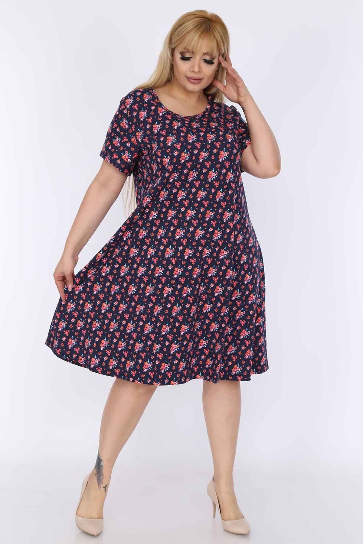 Çiçekli Elbise Yazlık 22A-0260