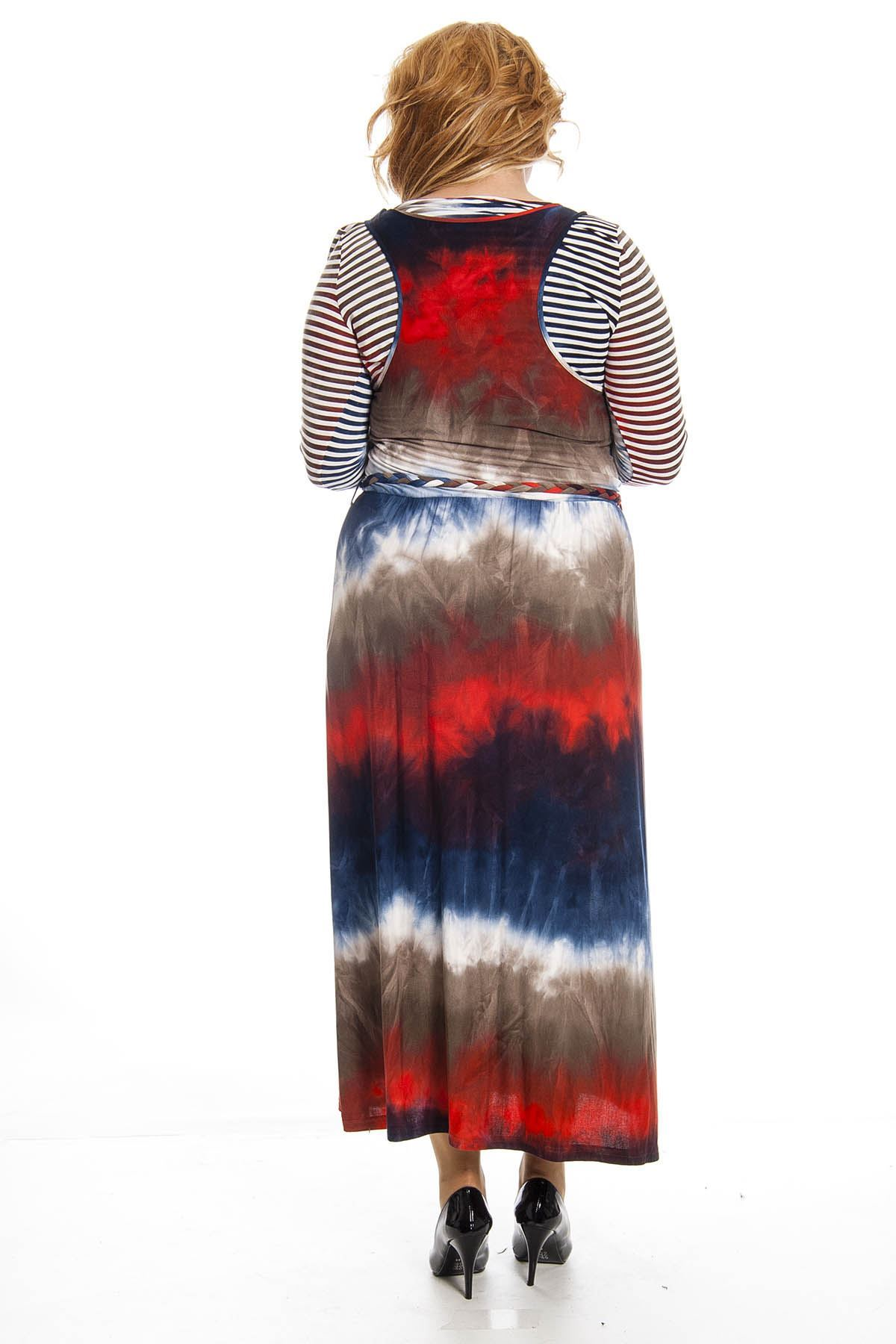 Desenli  Kadın Elbise K7-123306