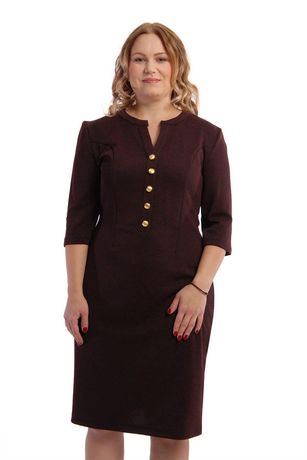 Düğmeli Elbise K6-54865
