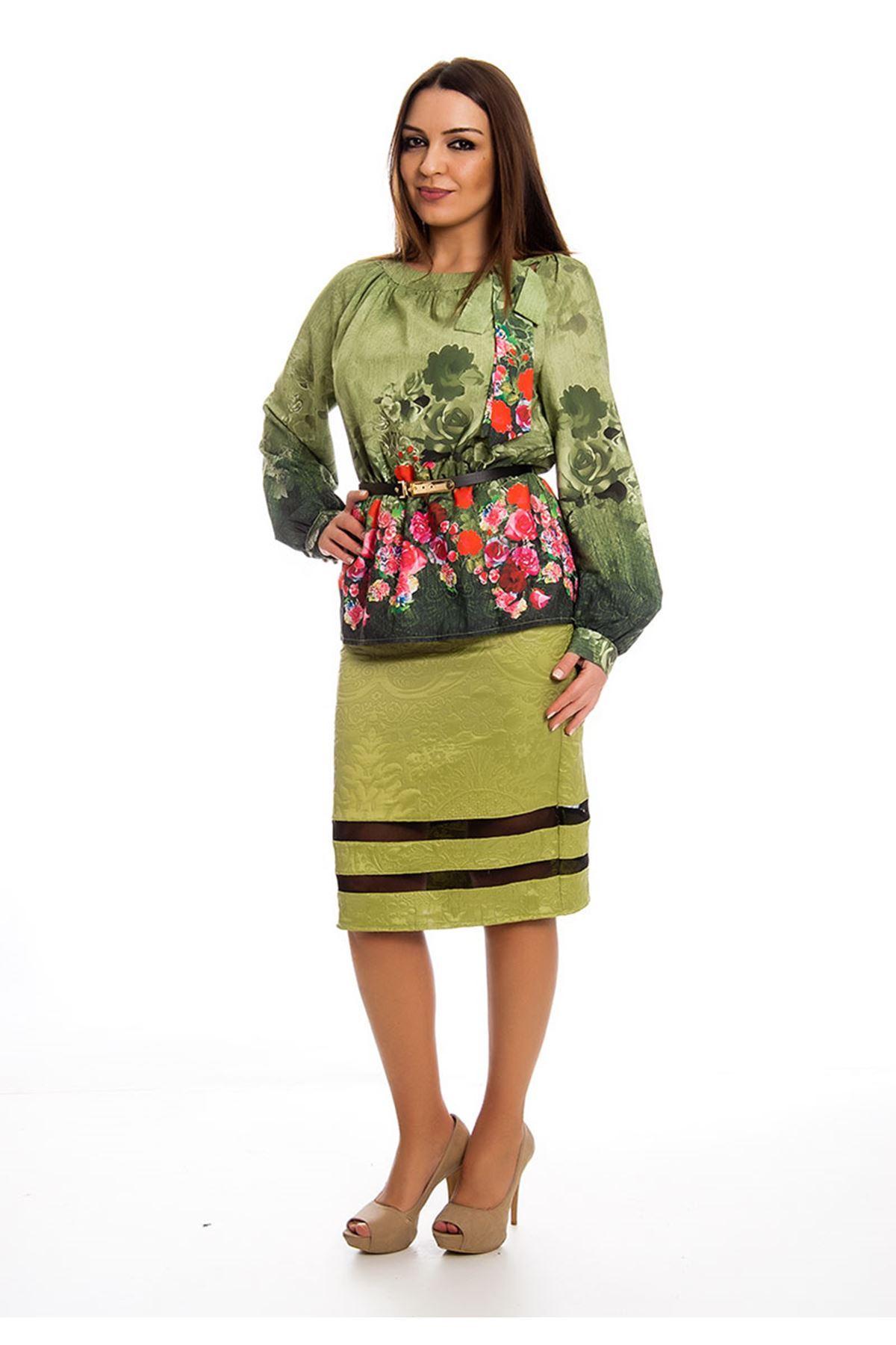 Etek Bluz İki Parça Kadın Elbise H9-124405