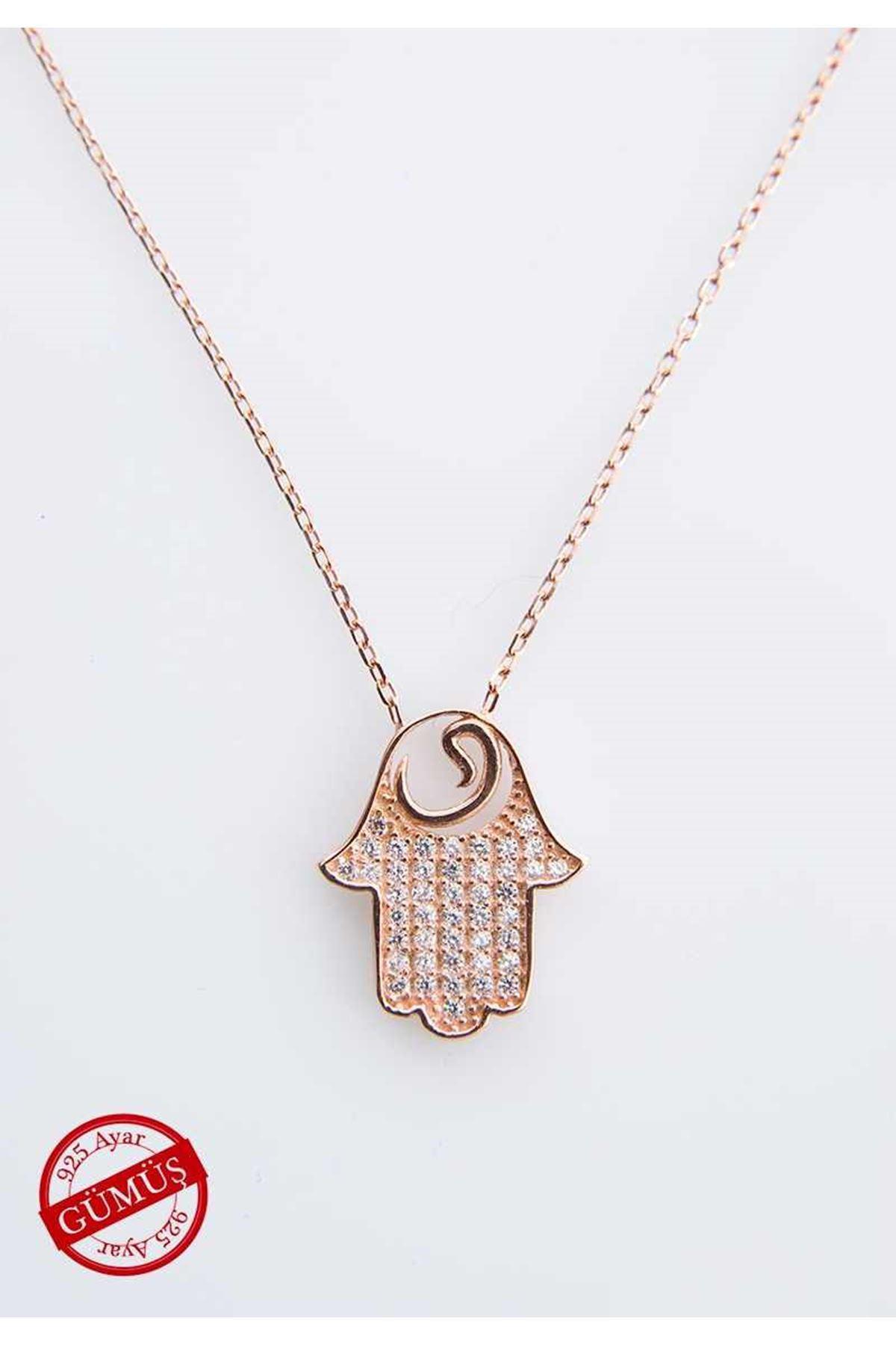 Fatmanın Eli Gümüş Kolye Gk-71281
