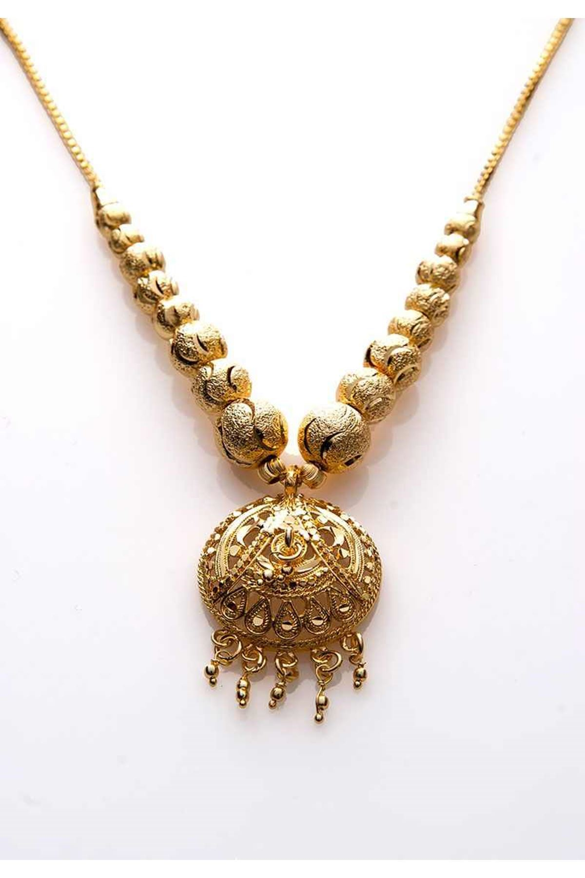 Gold Boncuk Kolye 12Ç-108028