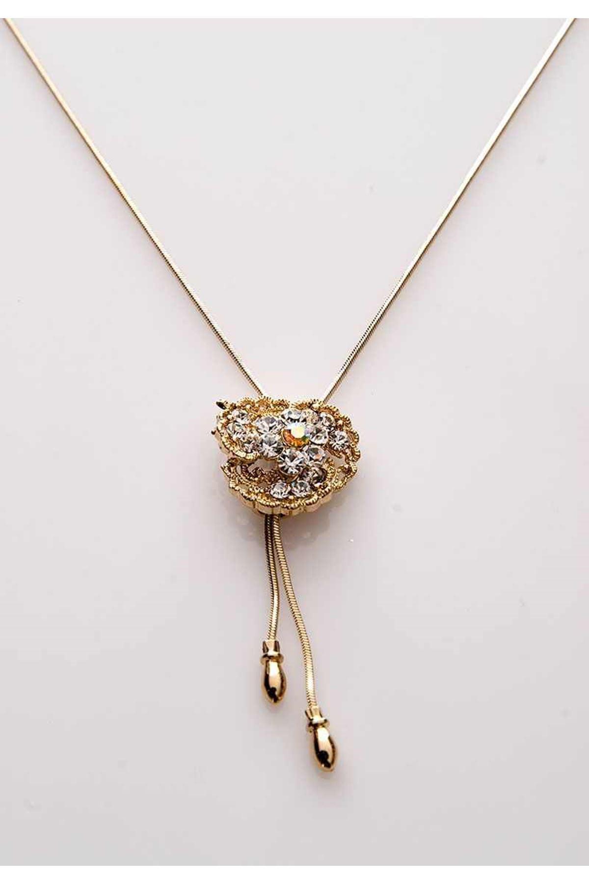 Gold Taşlı Kolye 11Ç-107830