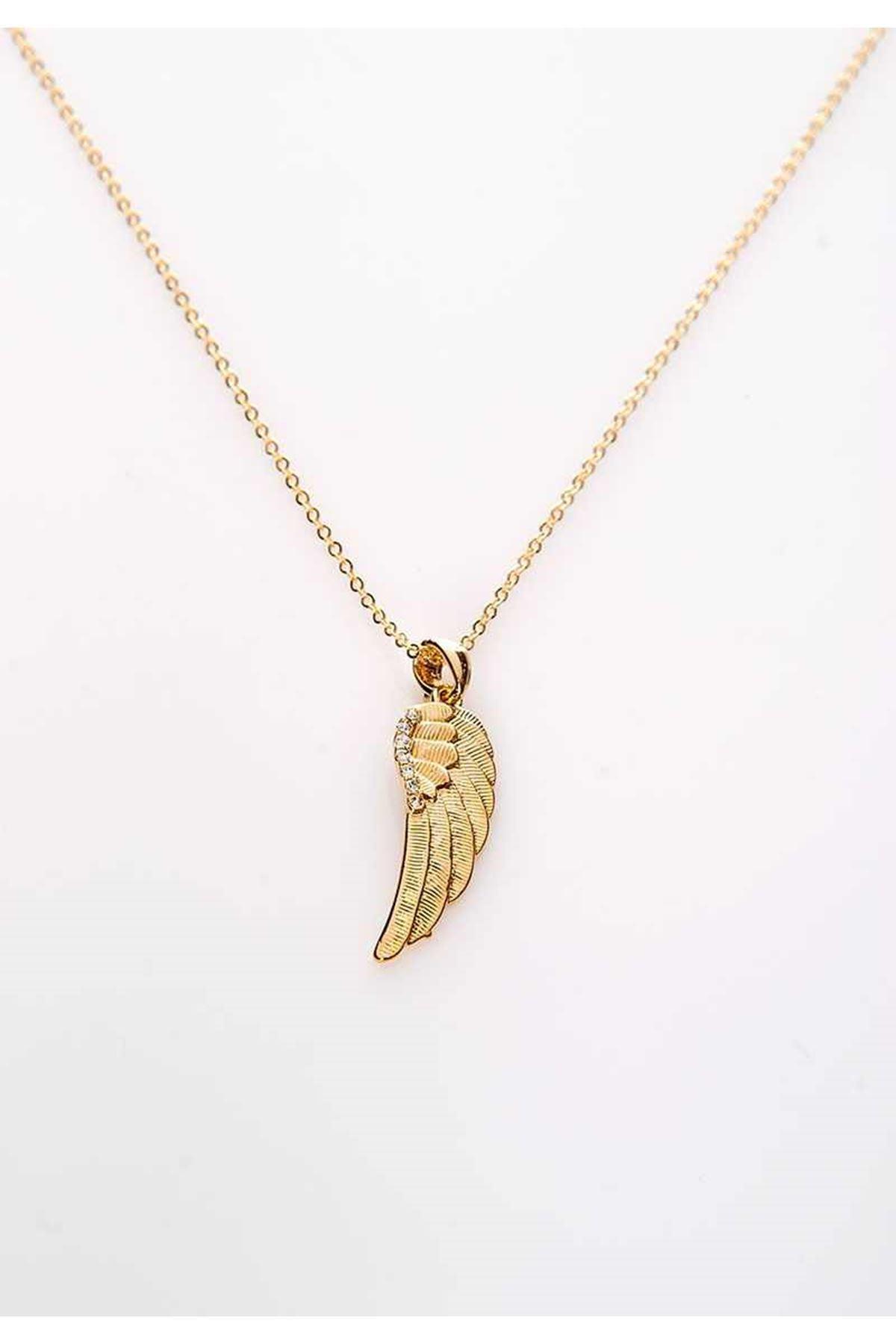 Gold Yaprak Kolye 10Ç-107996