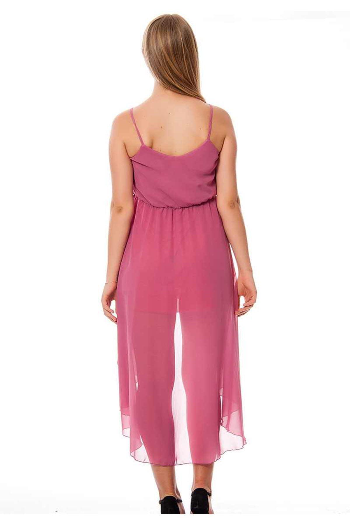Gül Kurusu  Yazlık Uzun Elbise F1-117043