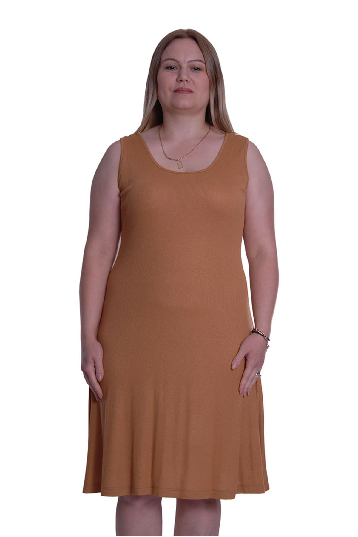 Hardal Kolsuz Elbise 3D-69989
