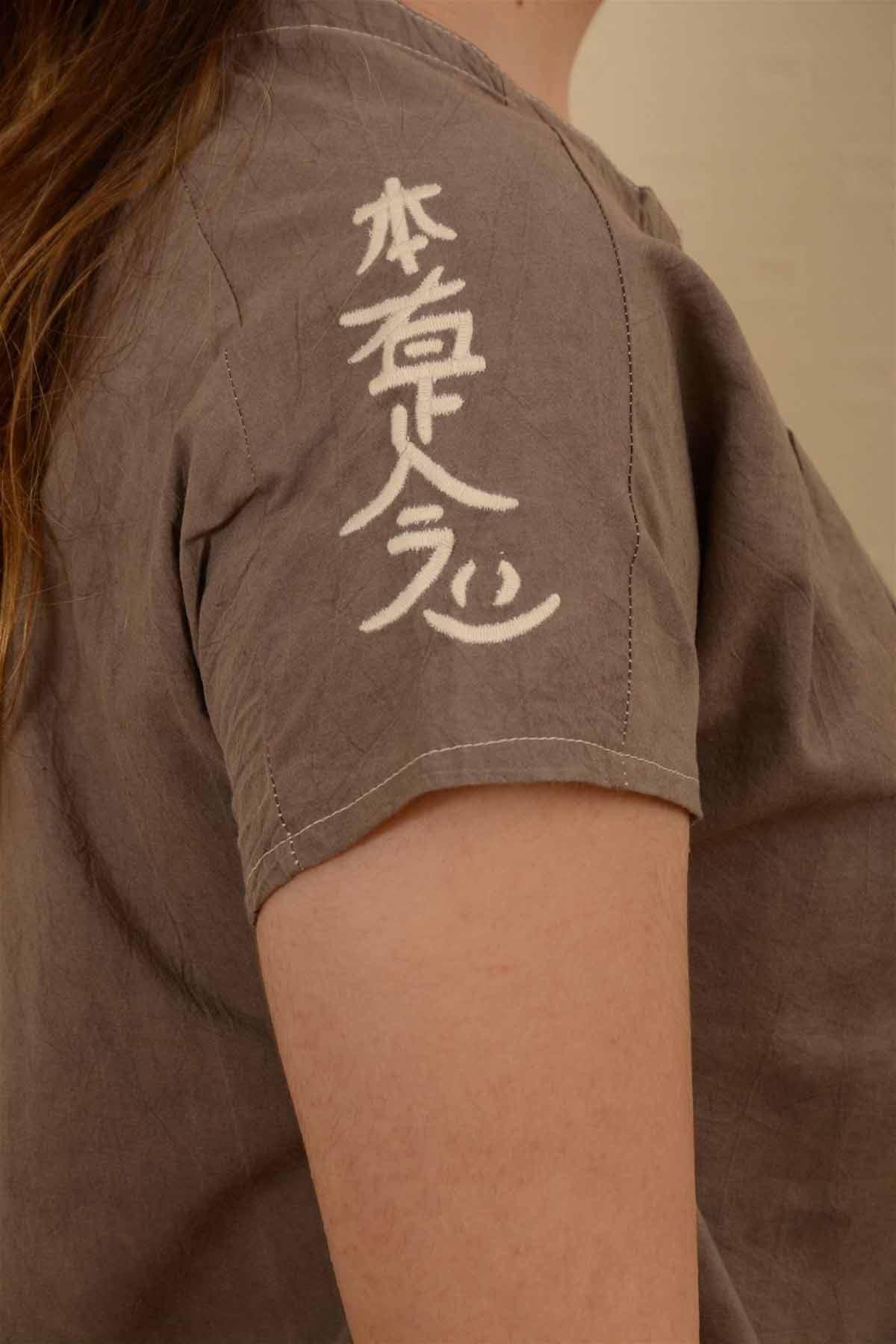 İnci - Pileli Kısa Kollu Bluz K1607