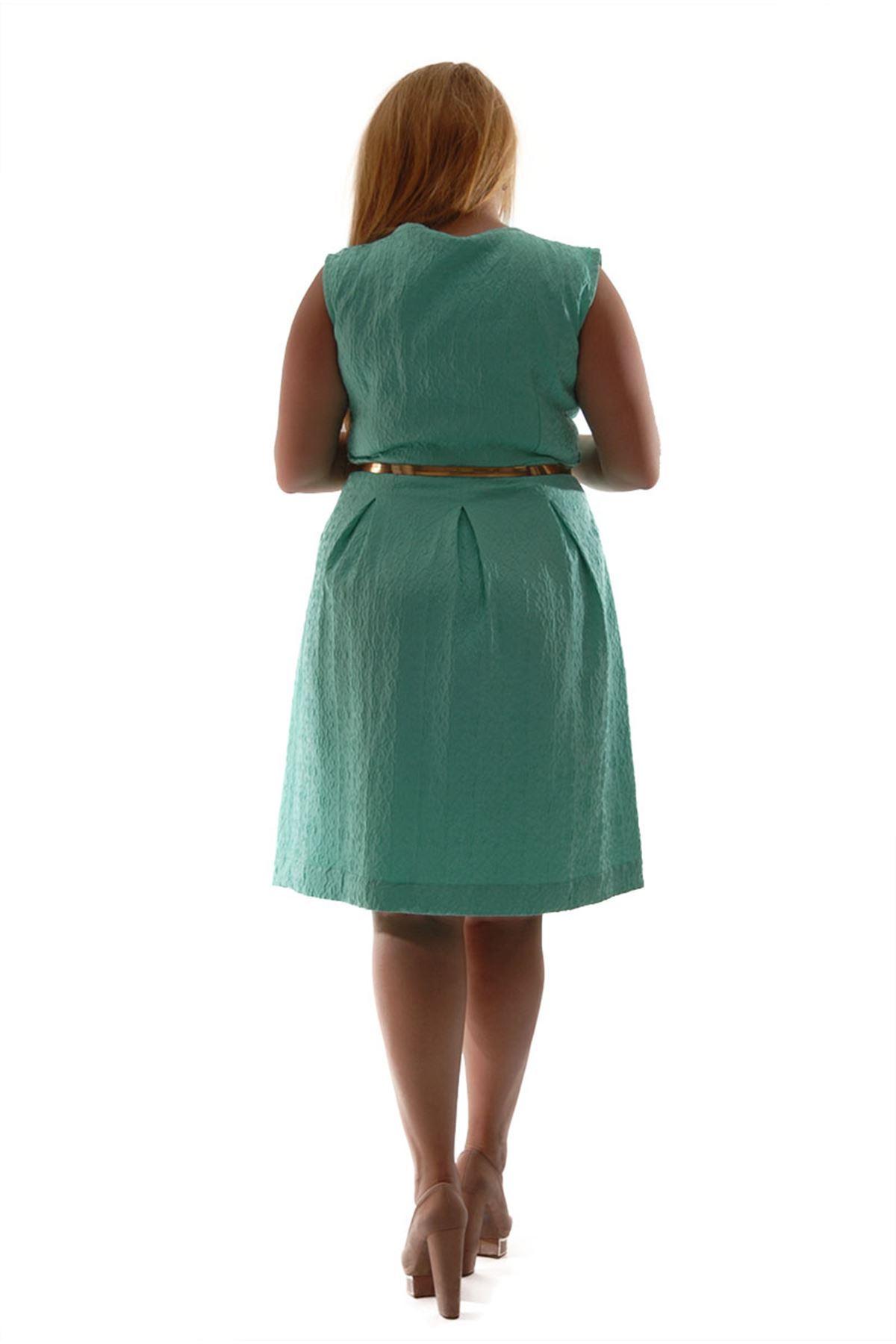 Jakarlı Kadın Elbise J3-52726