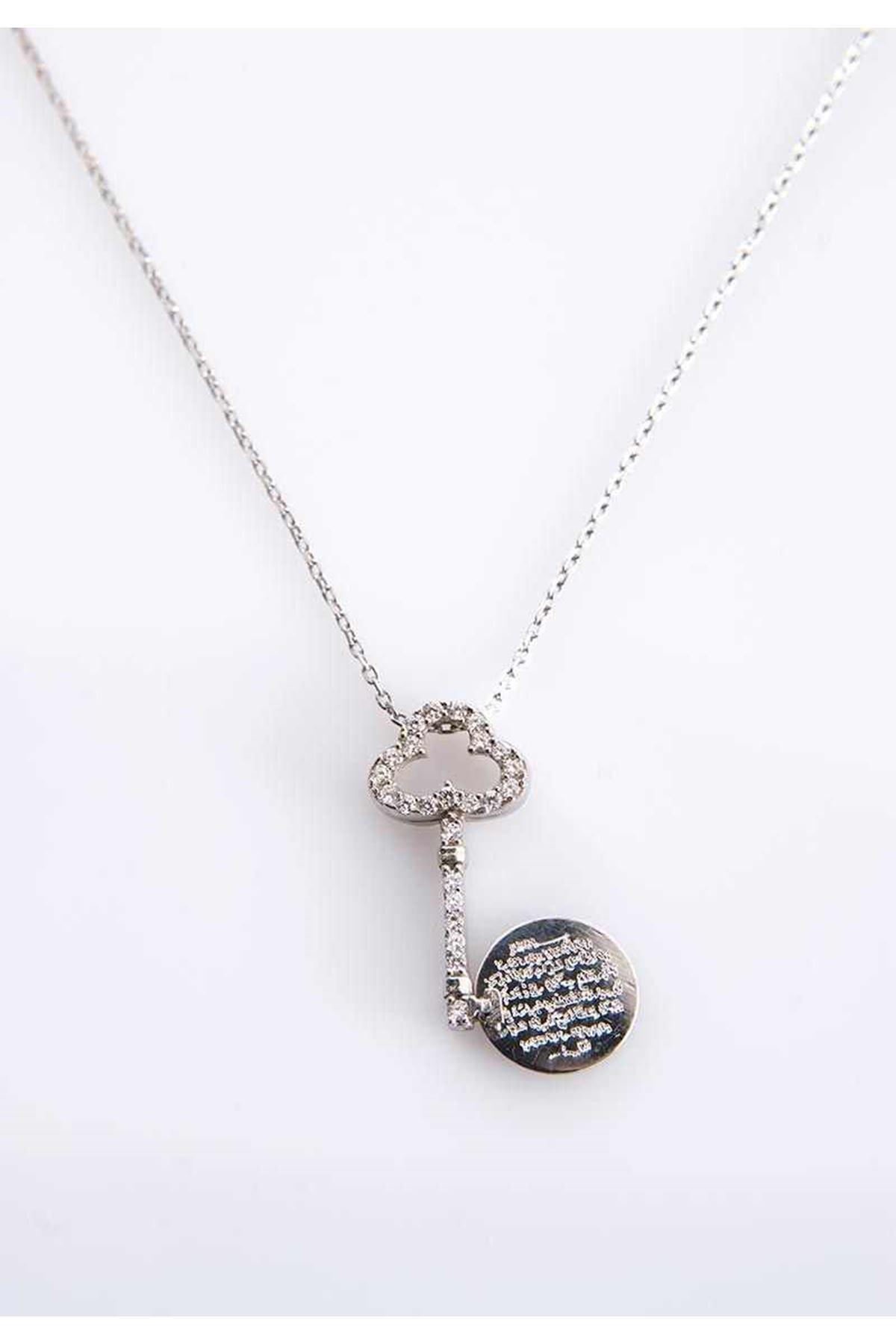 Kalbimin Anahtarı Koruma Altında Gümüş Kolye Gk-77462