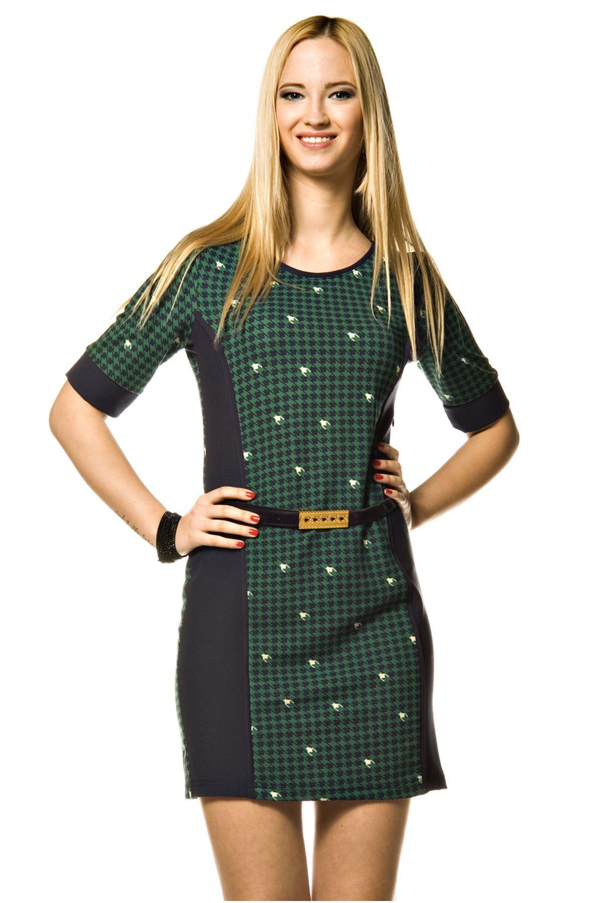 Kazayağı Kadın Elbise K12-3606