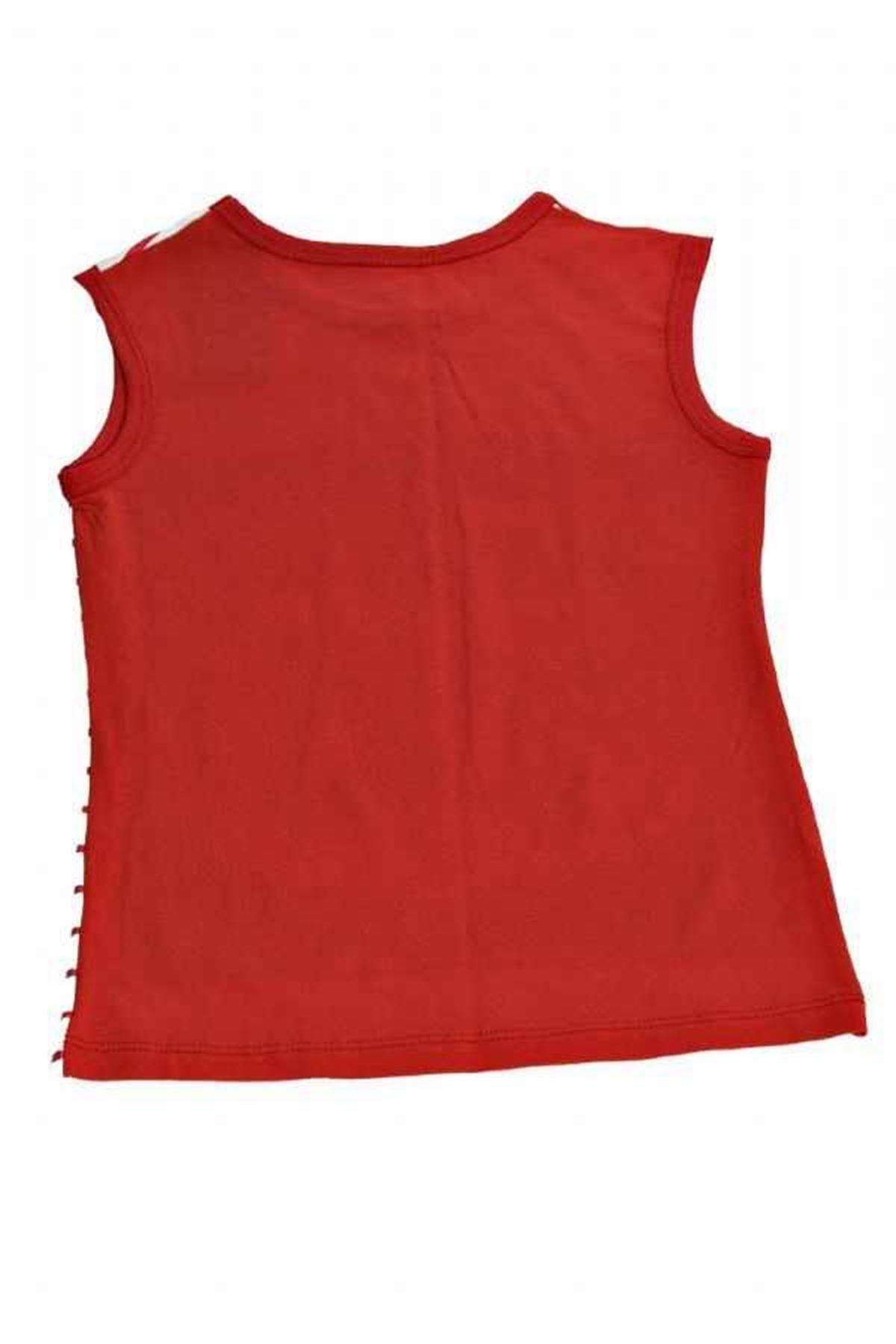 Kırmızı Beyaz T-Shirt 23D-64151