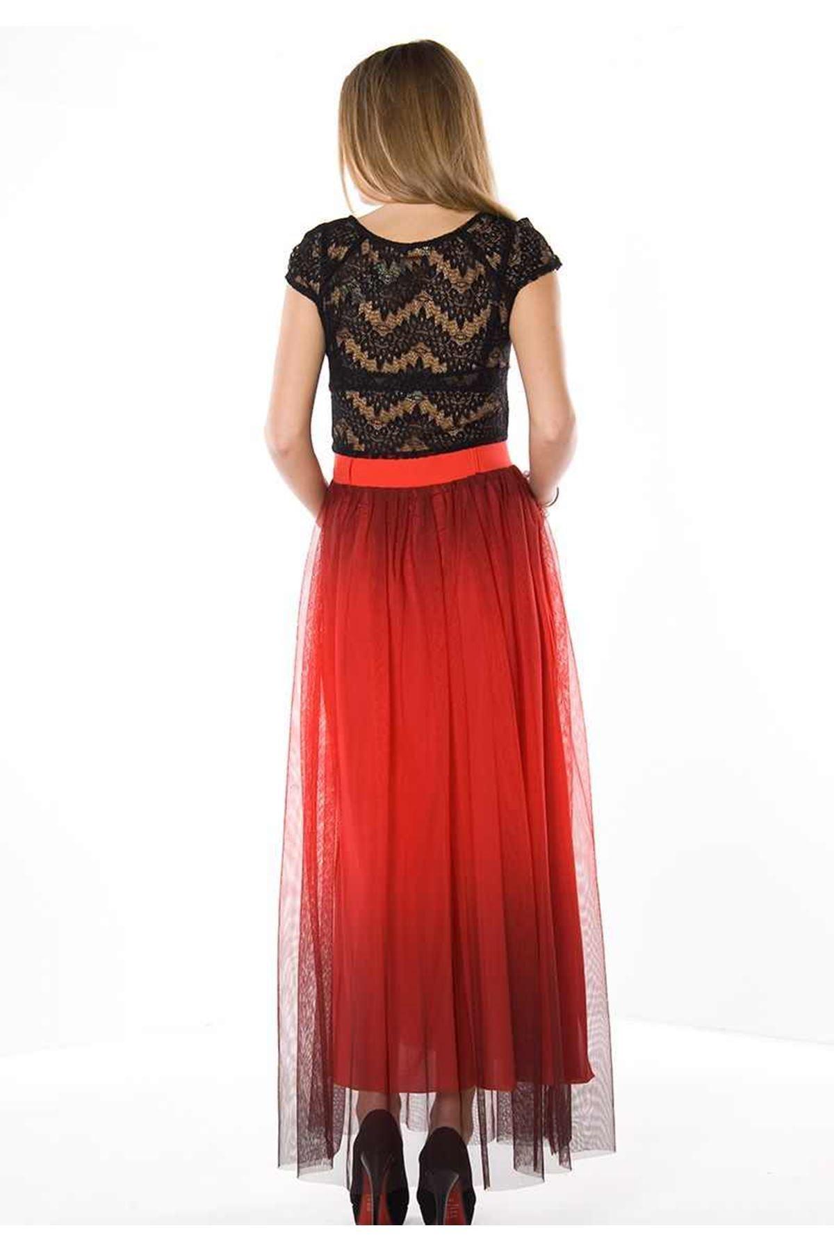 Kırmızı Tül Elbise H1-78230