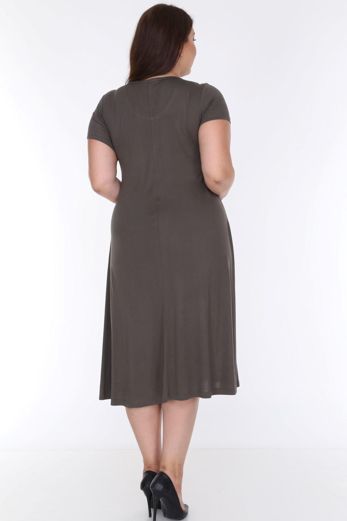 Kloş Kısakol Elbise 21D-0624