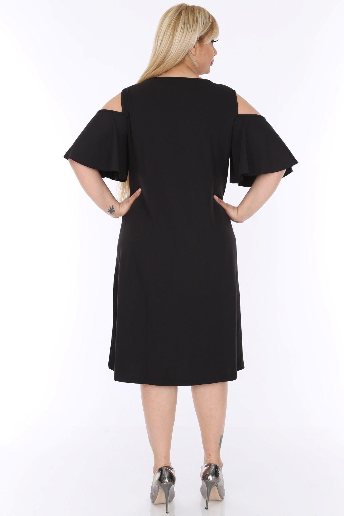 Kloş Kesim Büyük Beden Elbise 1C-0295