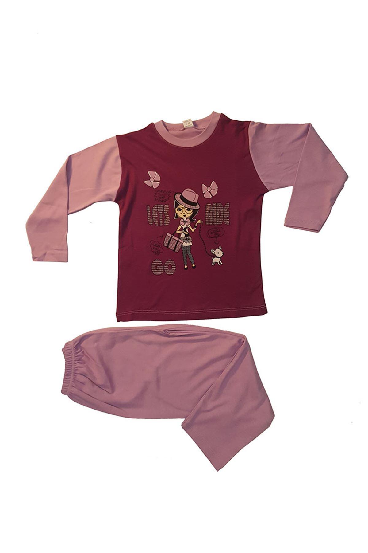 Kız Çocuğu Pijama Takımı 11B-78542