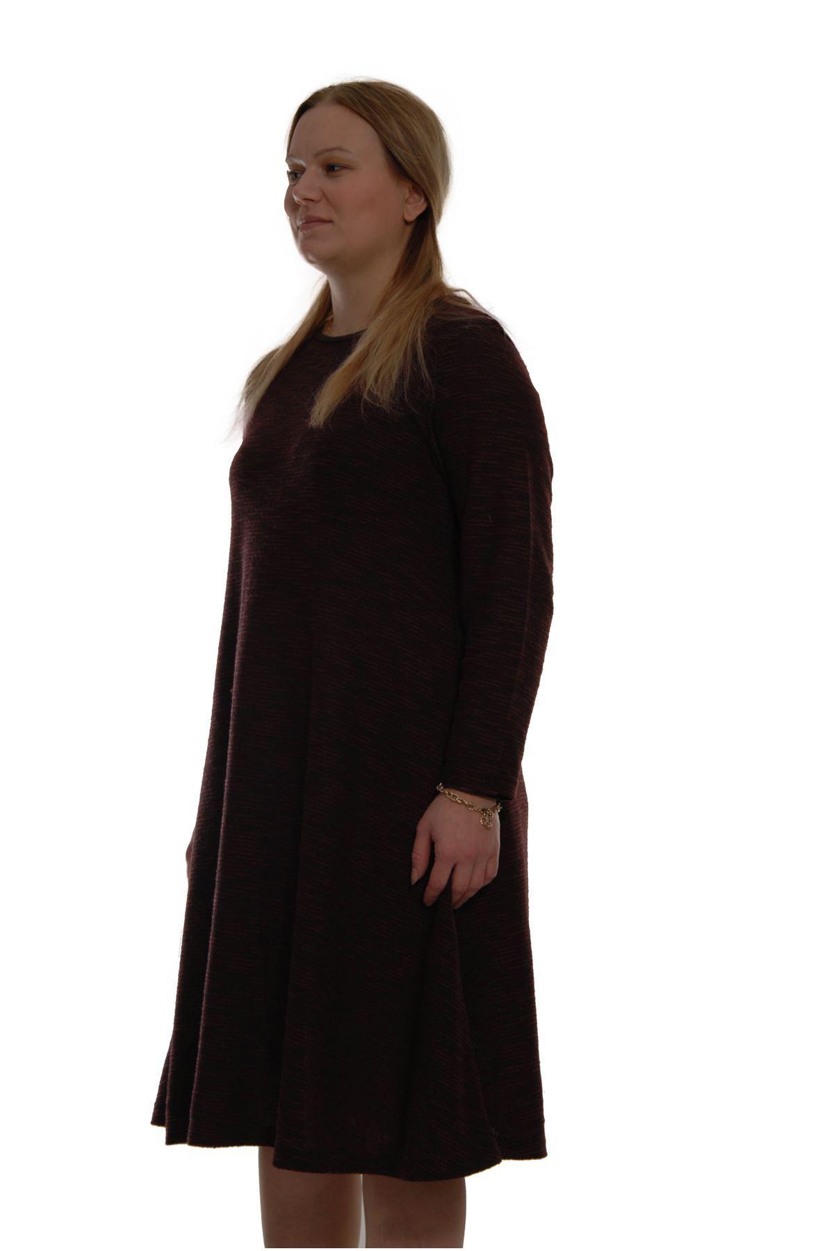 Koyu Desenli Elbise 21B-69007