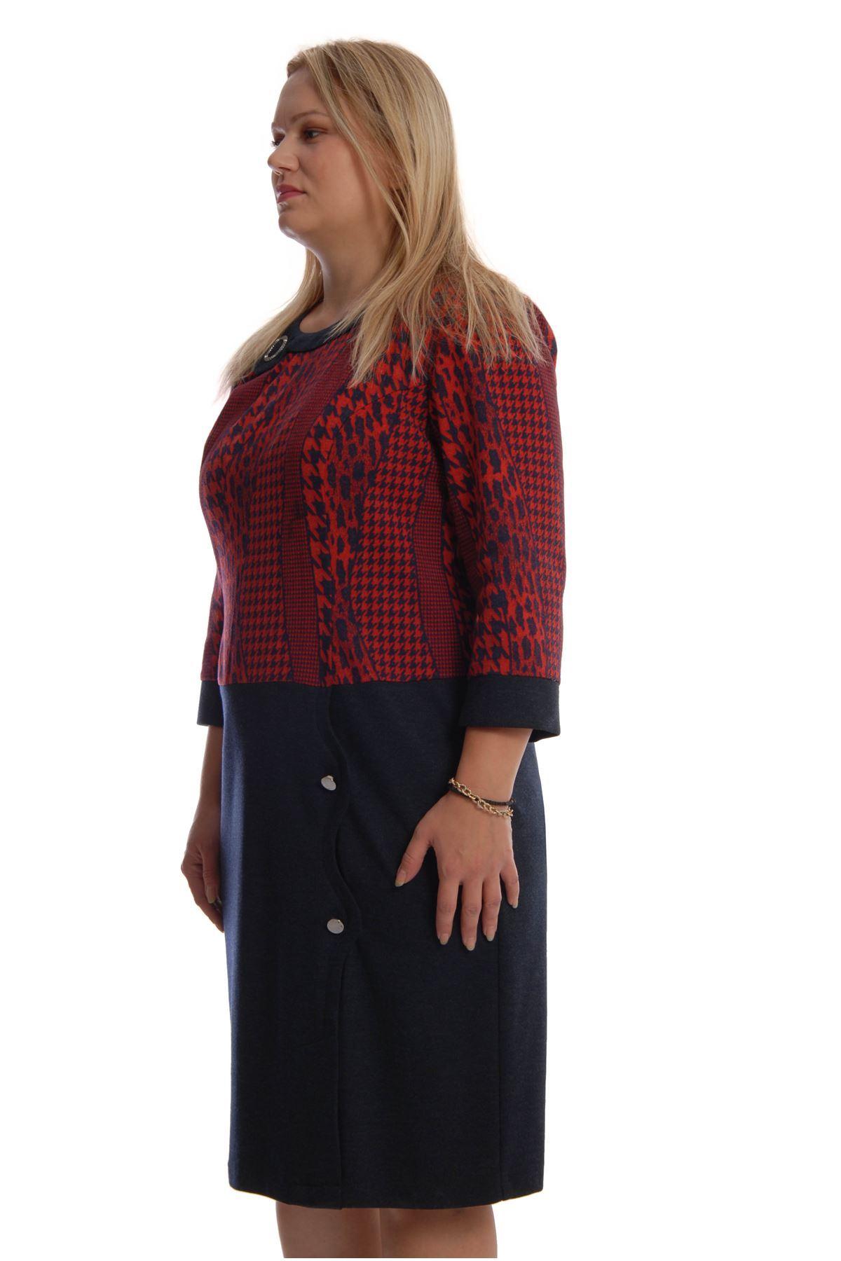 Laci Kırmızı Elbise F11-68447