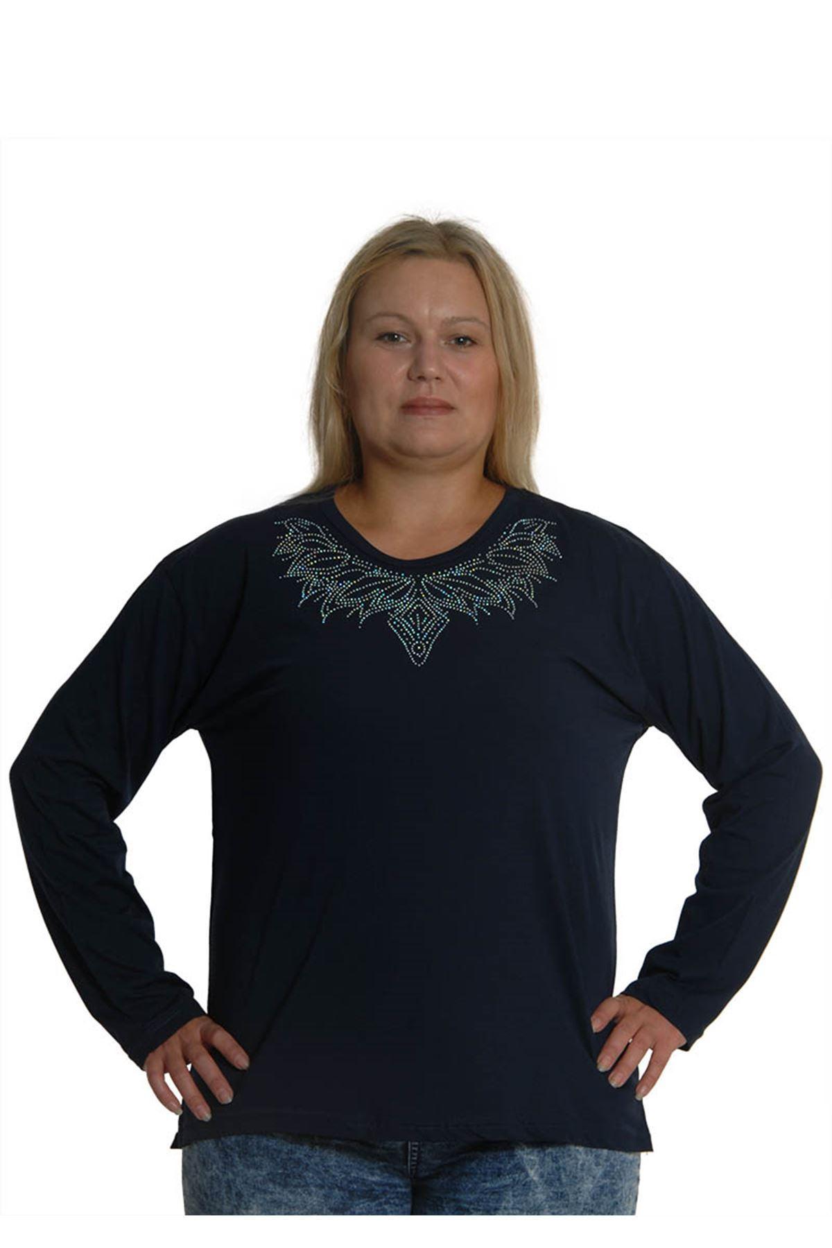 Lacivert Bluz 17E-0732