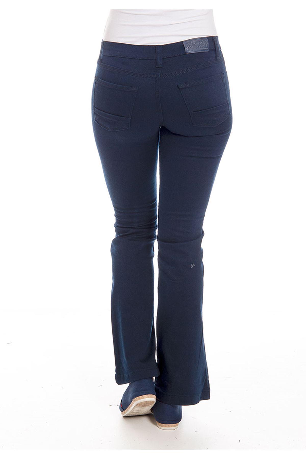 Lacivert İspanyol Paça Kadın Pantolon 4A-126109