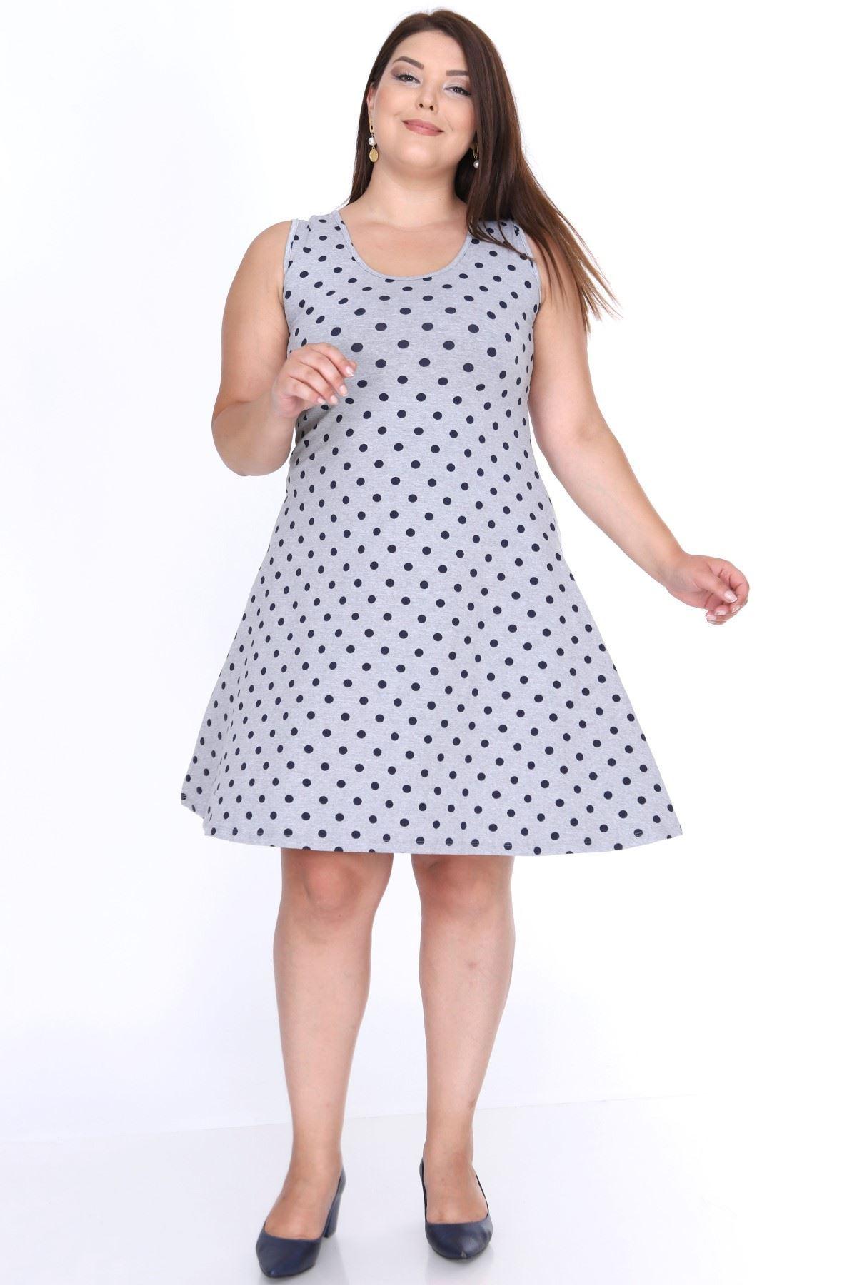 Puanlı Yazlık Elbise 22B-0636