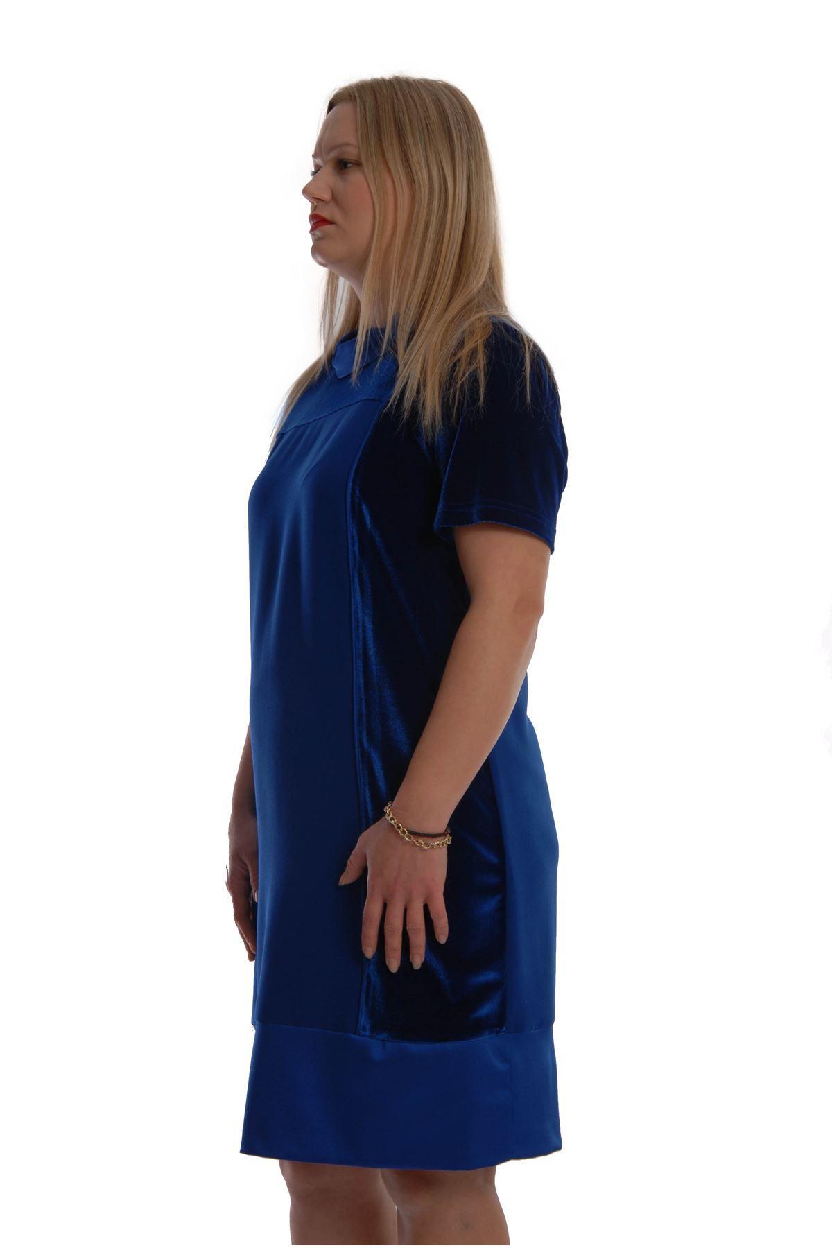 Saks Kadifeli Elbise G6-68904