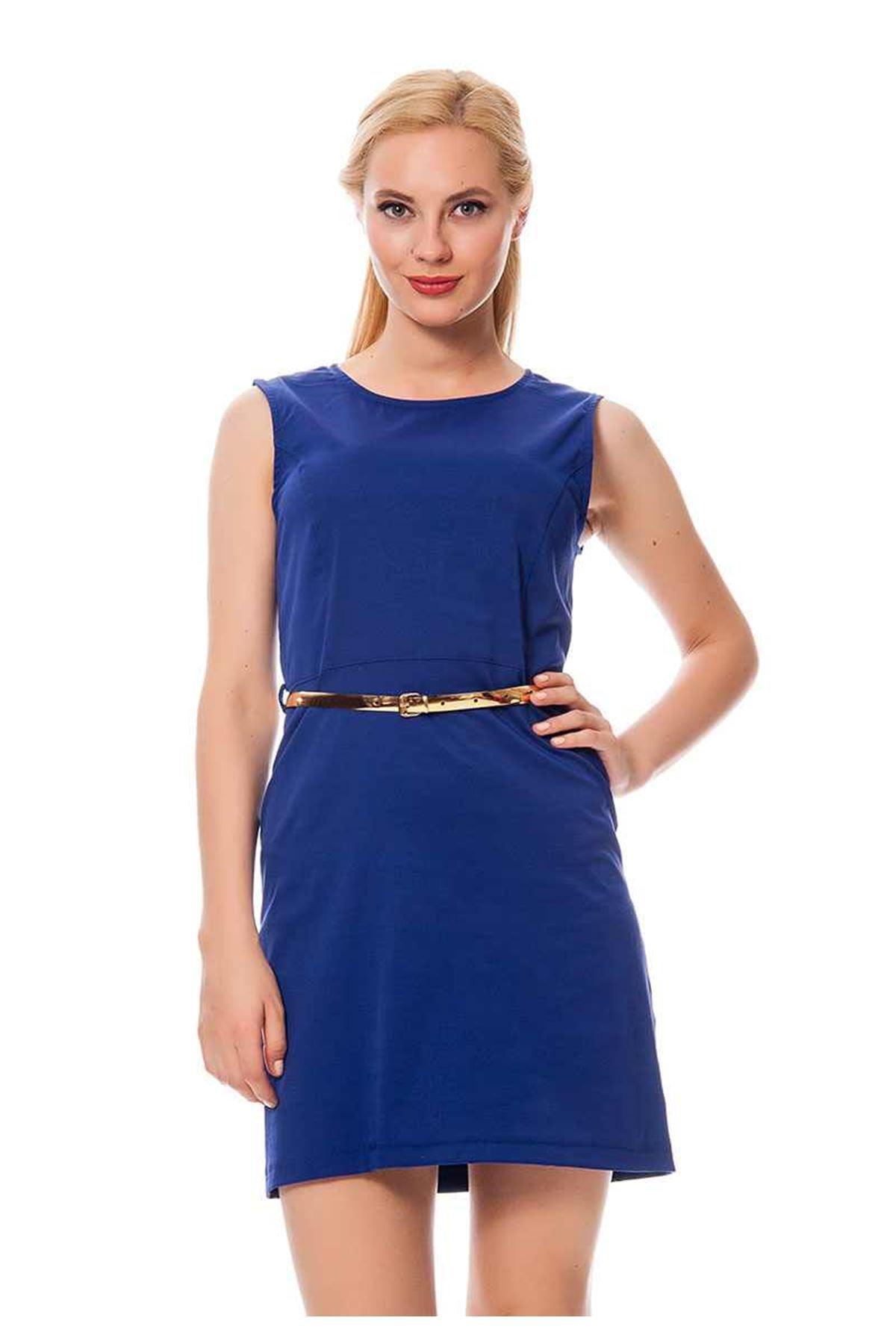 Saks Mavisi Kadın Yazlık Elbise H2-116328