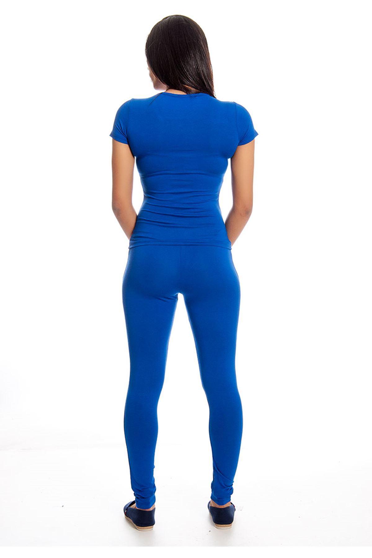 Saks Mavisi Pul İşlemeli Eşofman Takımı 14E-129472