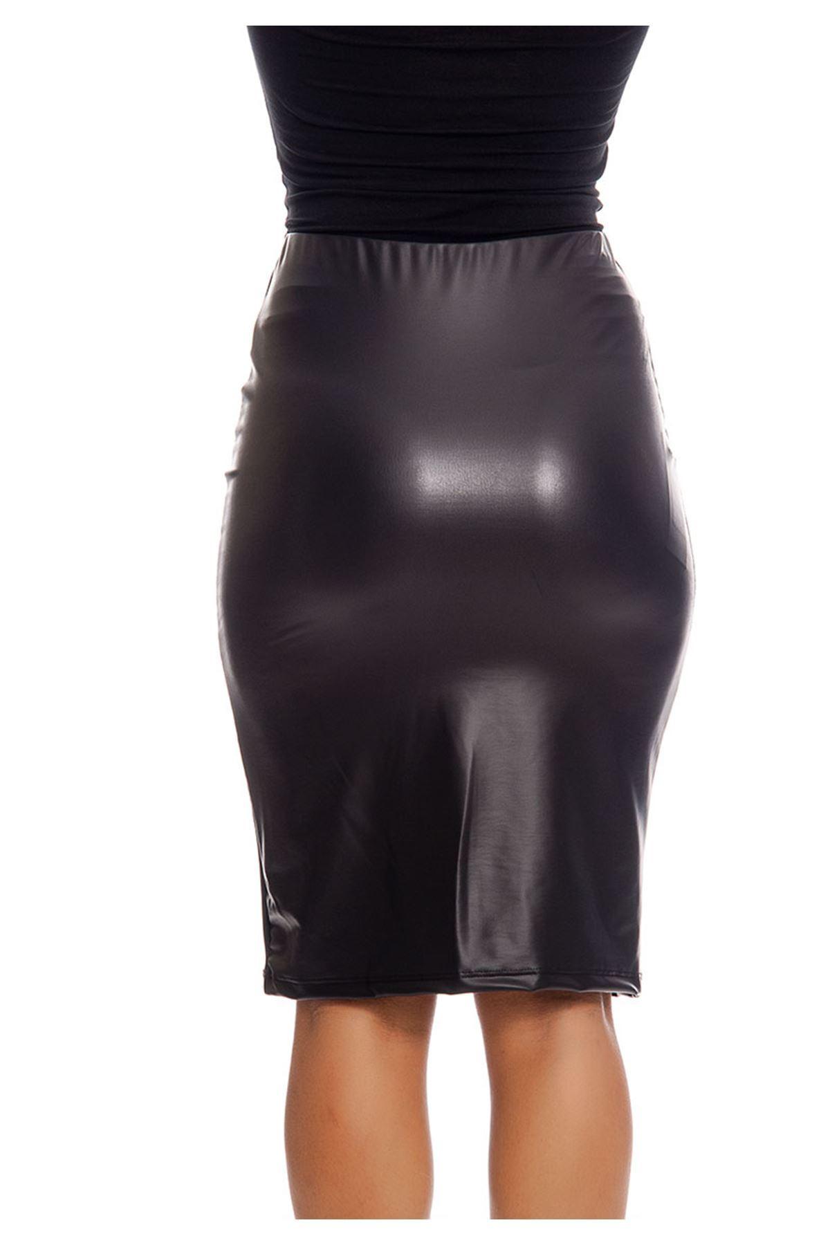 Siyah Deri Etek 15B-129362
