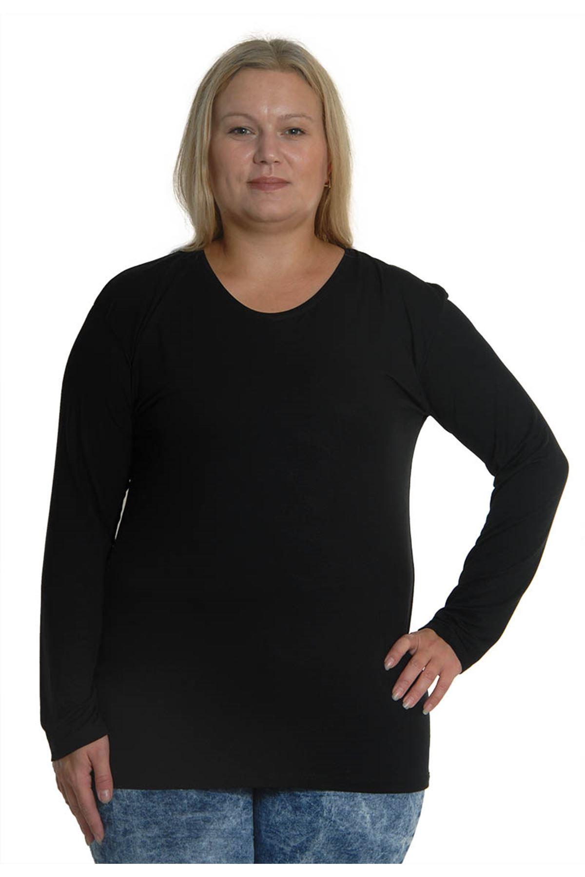 Siyah Esnek Bluz 5D-0743