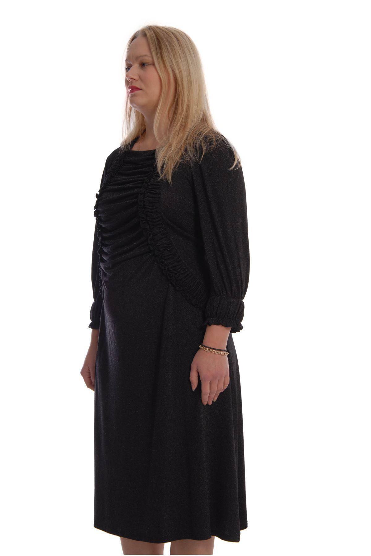 Siyah Esnek Elbise K2-68767