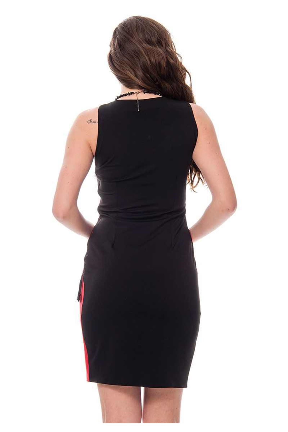 Siyah Püsküllü Elbise G6-115318