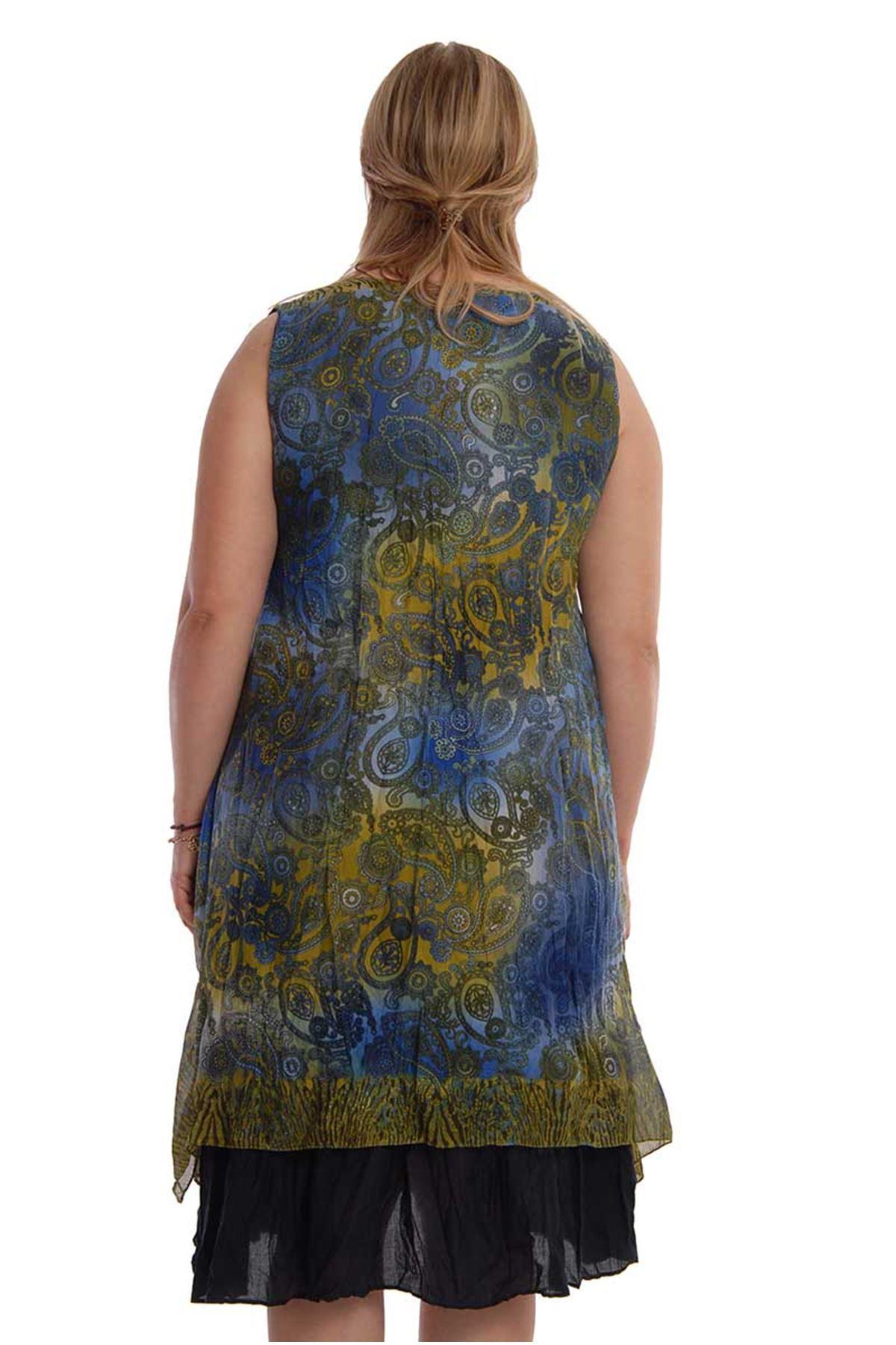 Şık Kolsuz Elbise 18D-67907