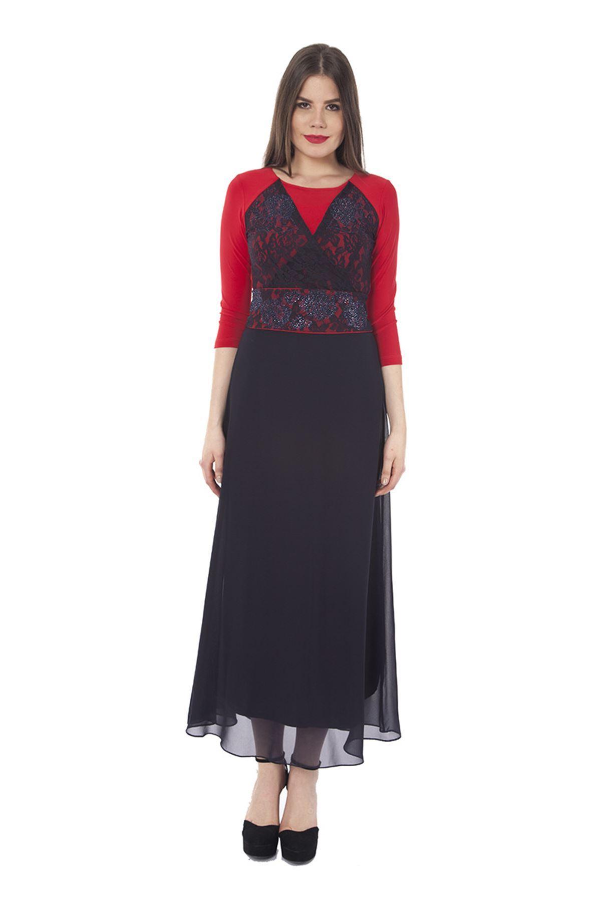 Taşlı Şık Elbise F7-0704