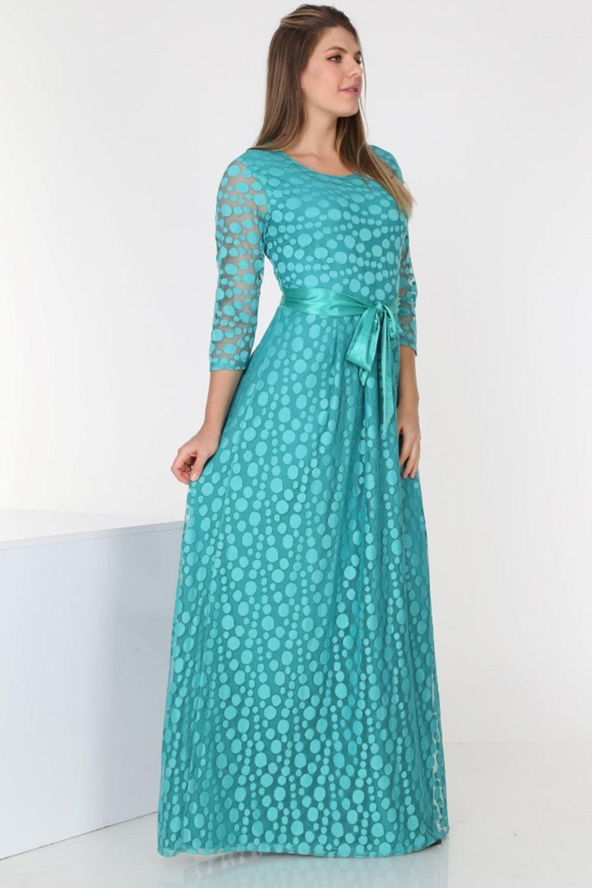 Uzun Dantel Elbise 2C-0566