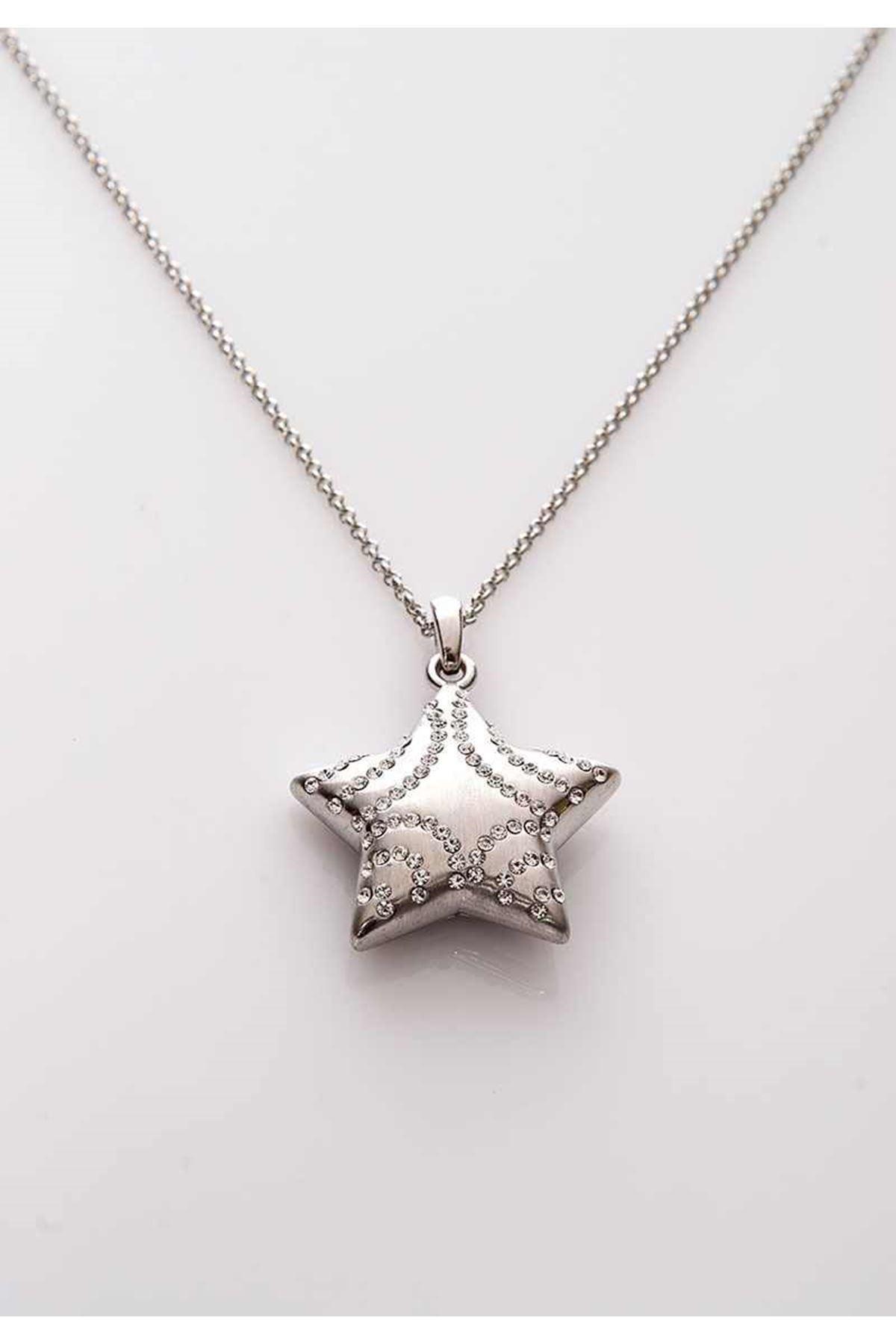 Uzun Taşlı Yıldız Kolye 11Ç-108010