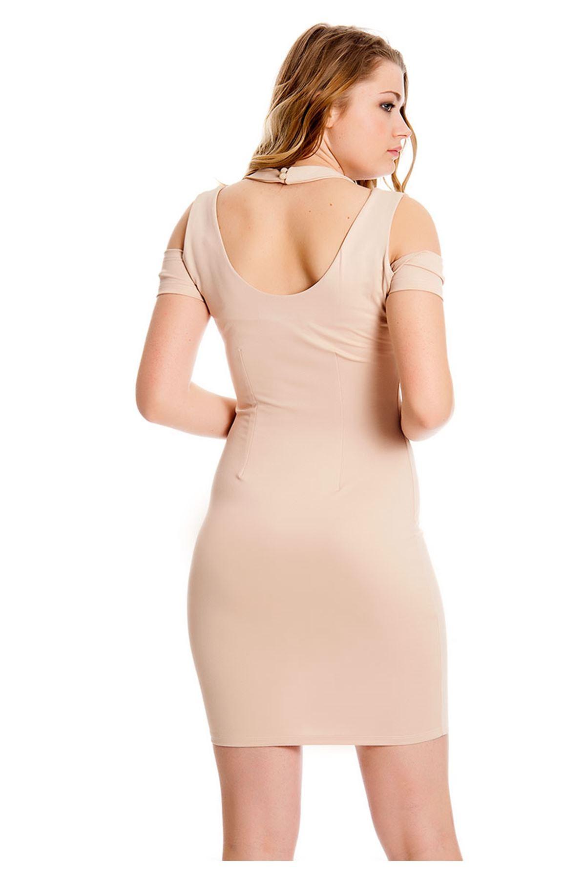 Vizon Dekolte Kadın Elbise H9-126908