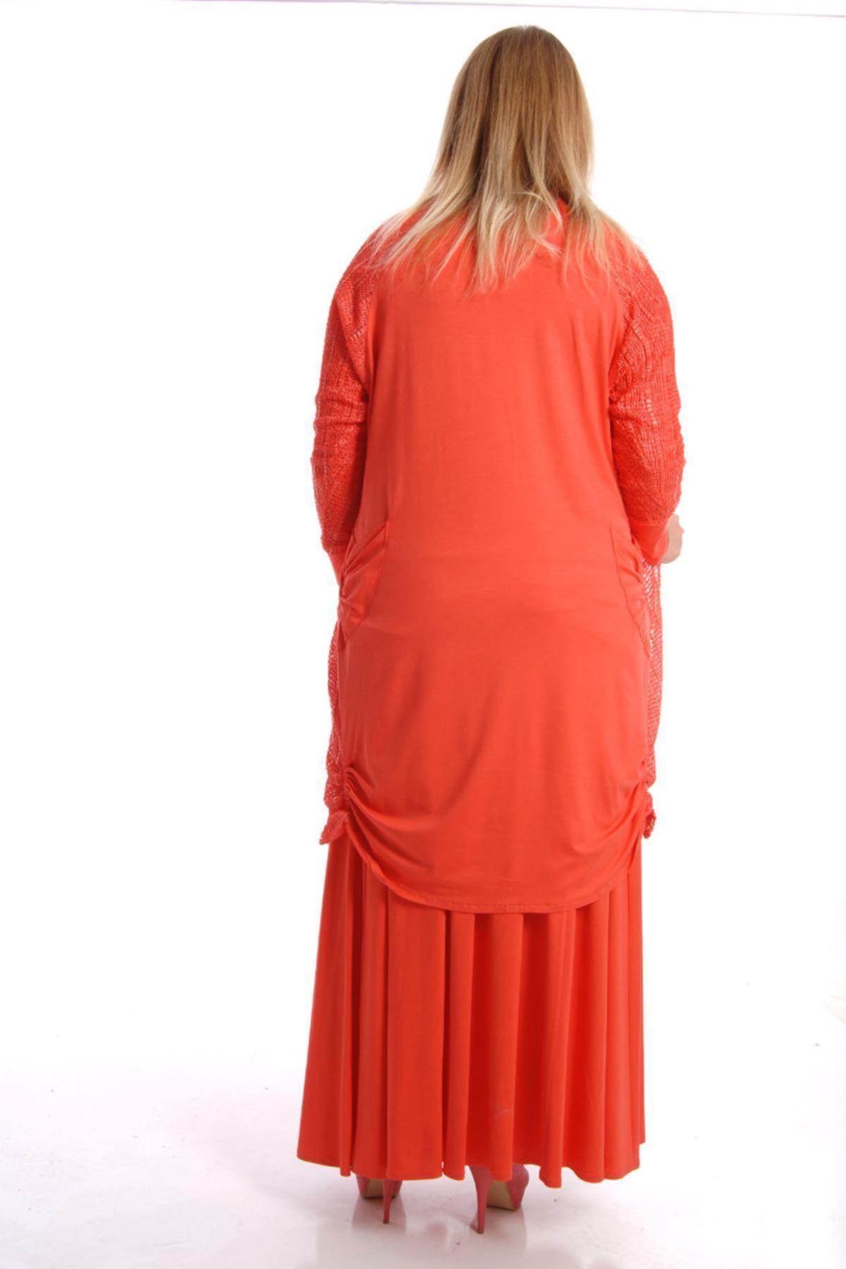 Üçlü Takım Örme Elbise K7-54514