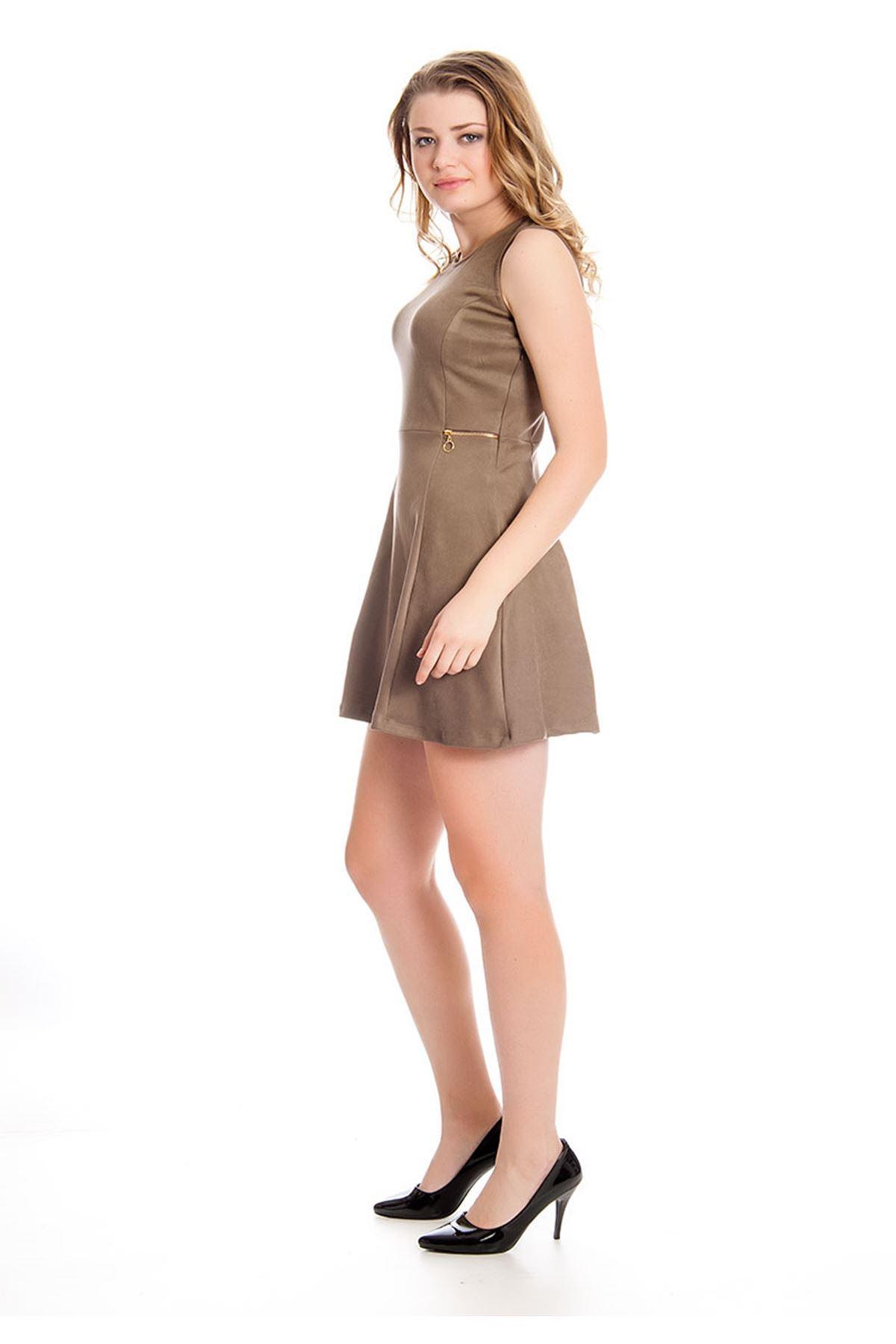 Vizon Süet Kadın Elbise H9-126820