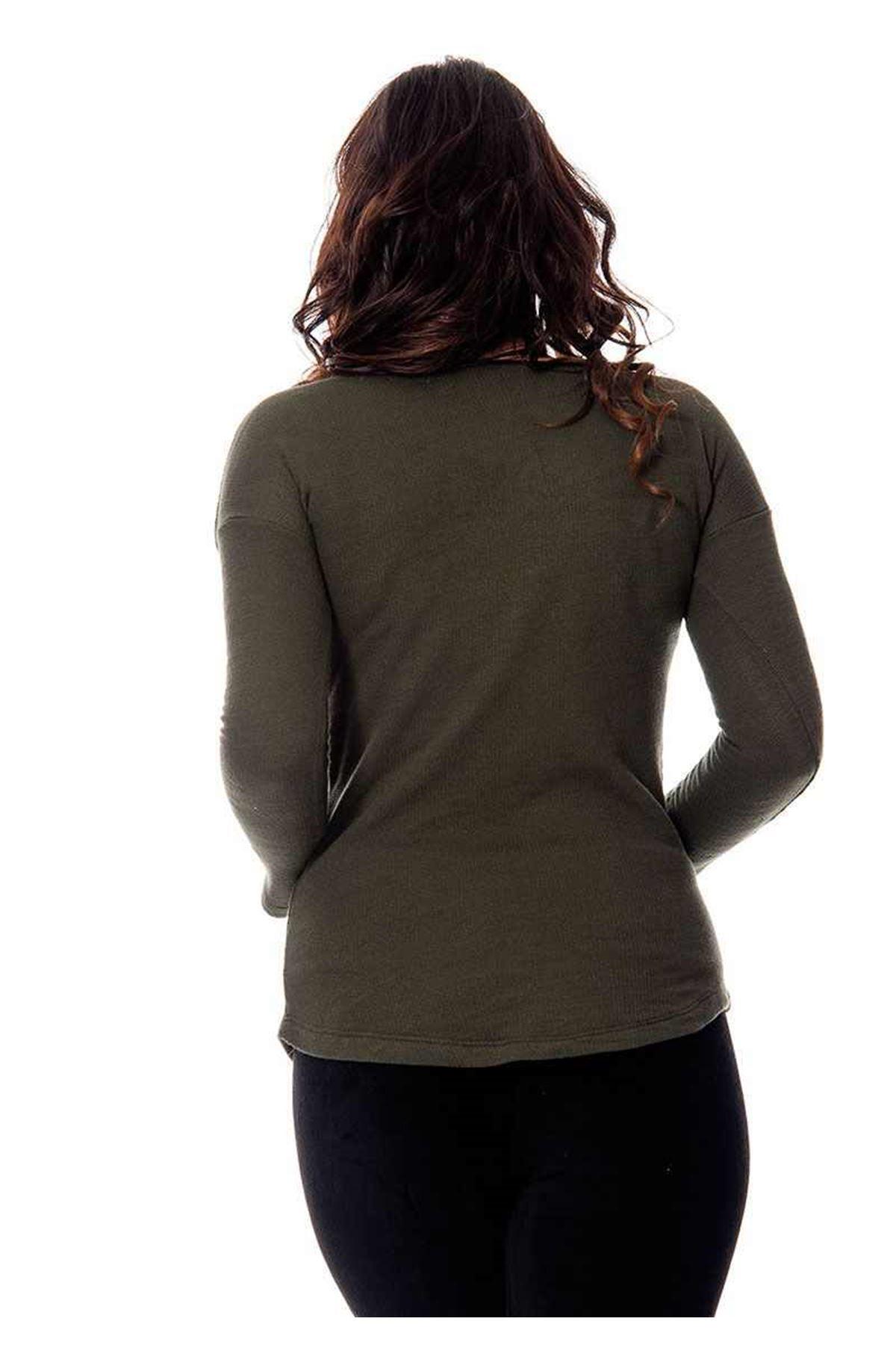 Yeşil Baskılı Bluz 5G-108742