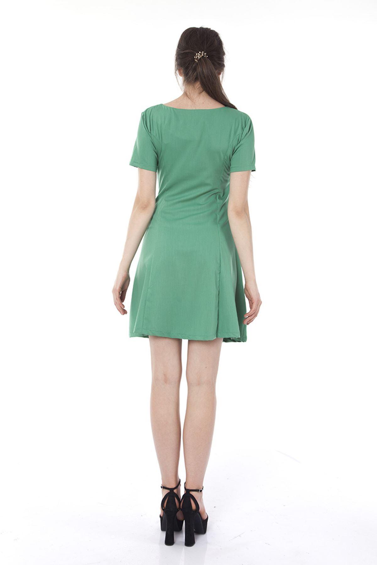 Yeşil Kadın Elbise I6-118552