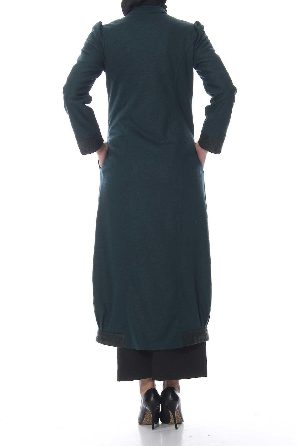 Yeşil Kaşe Kaban K7-103113