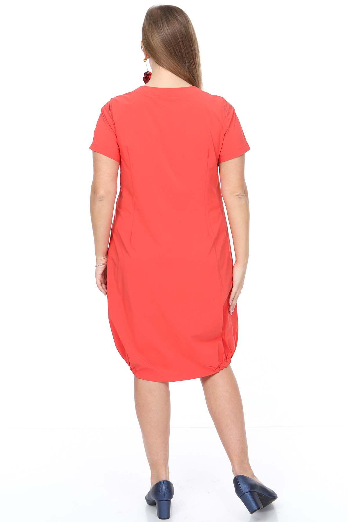 Yazlık Mercan Büyük Beden Elbise 18E-0920