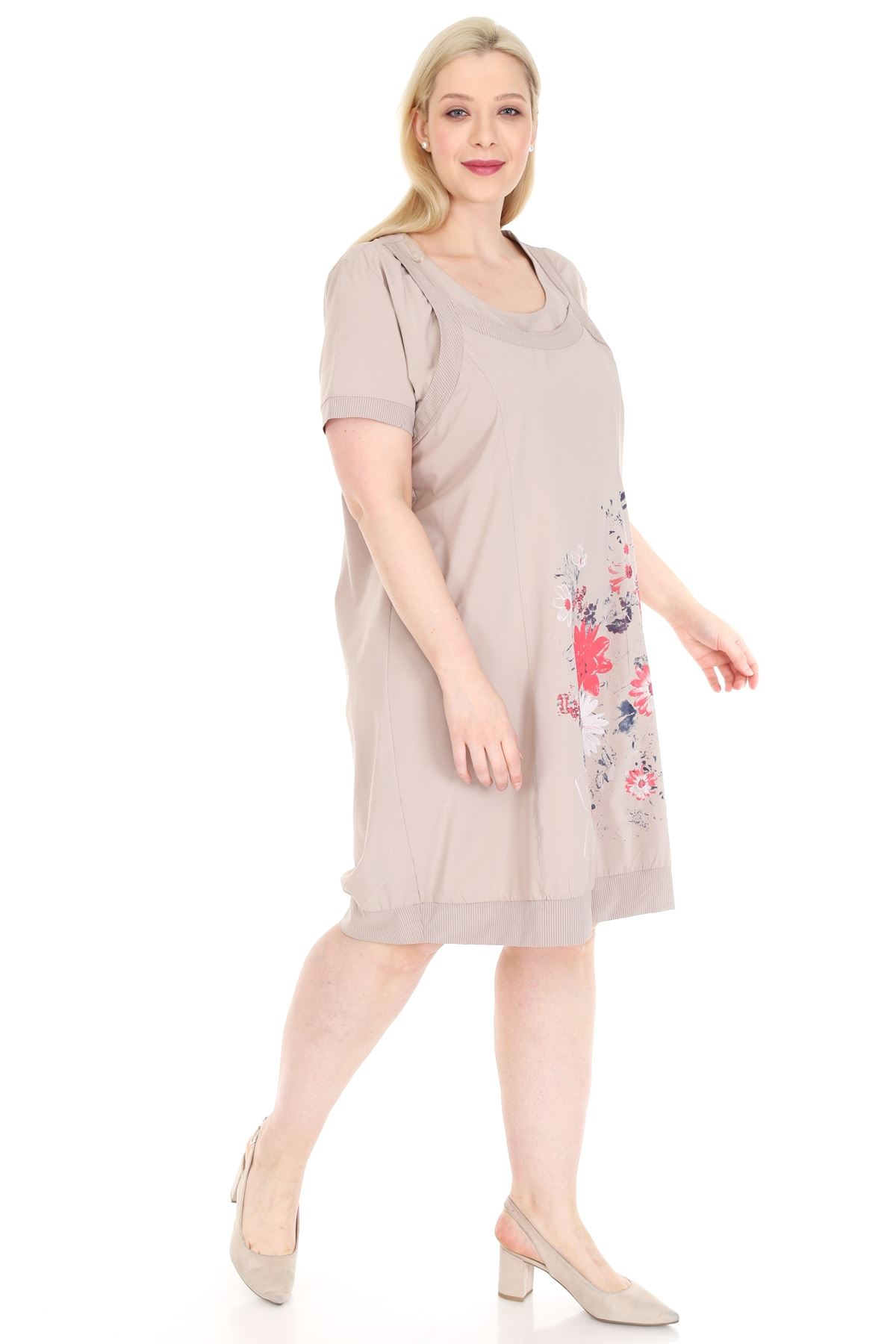 Baskılı Yazlık Elbise 20Y-0917