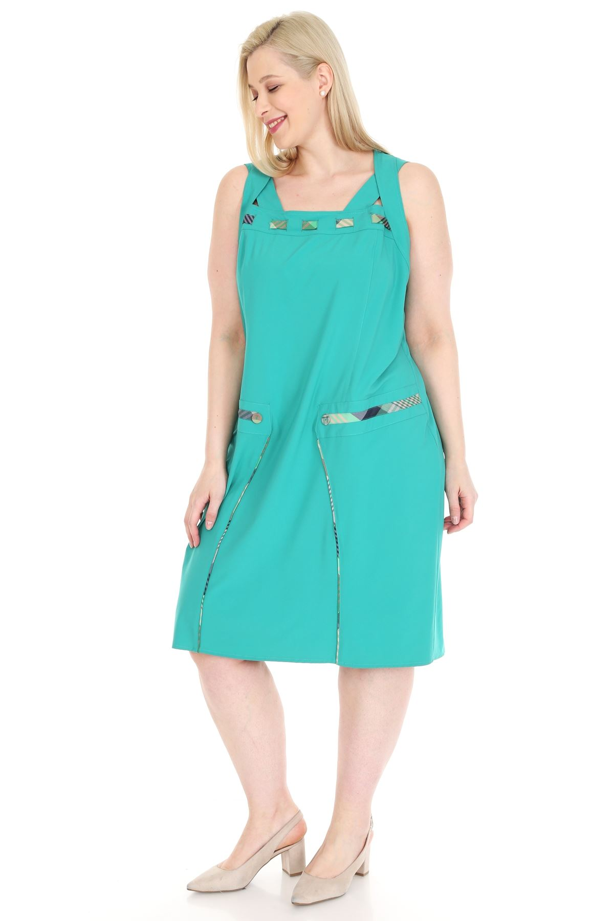 Yeşil Askılı Elbise 20Y-0915