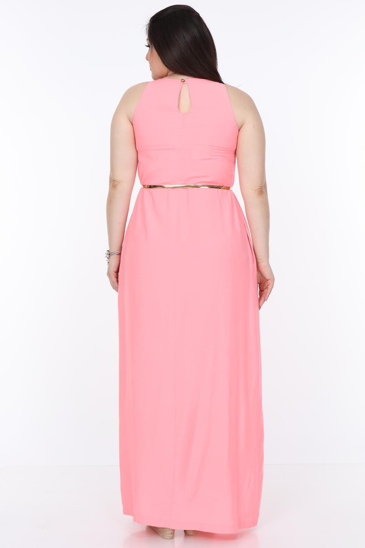 Yazlık Büyük Beden Uzun Elbise 12D-0999