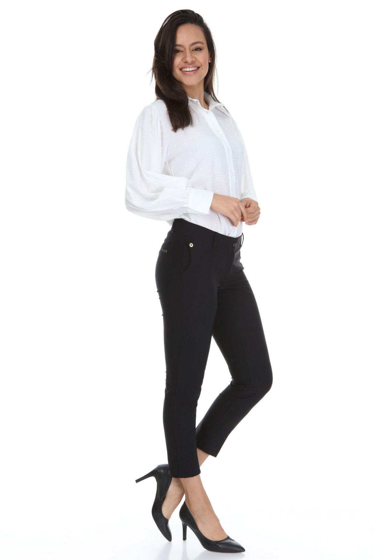 Siyah Büyük Beden Pantolon 30A-3130