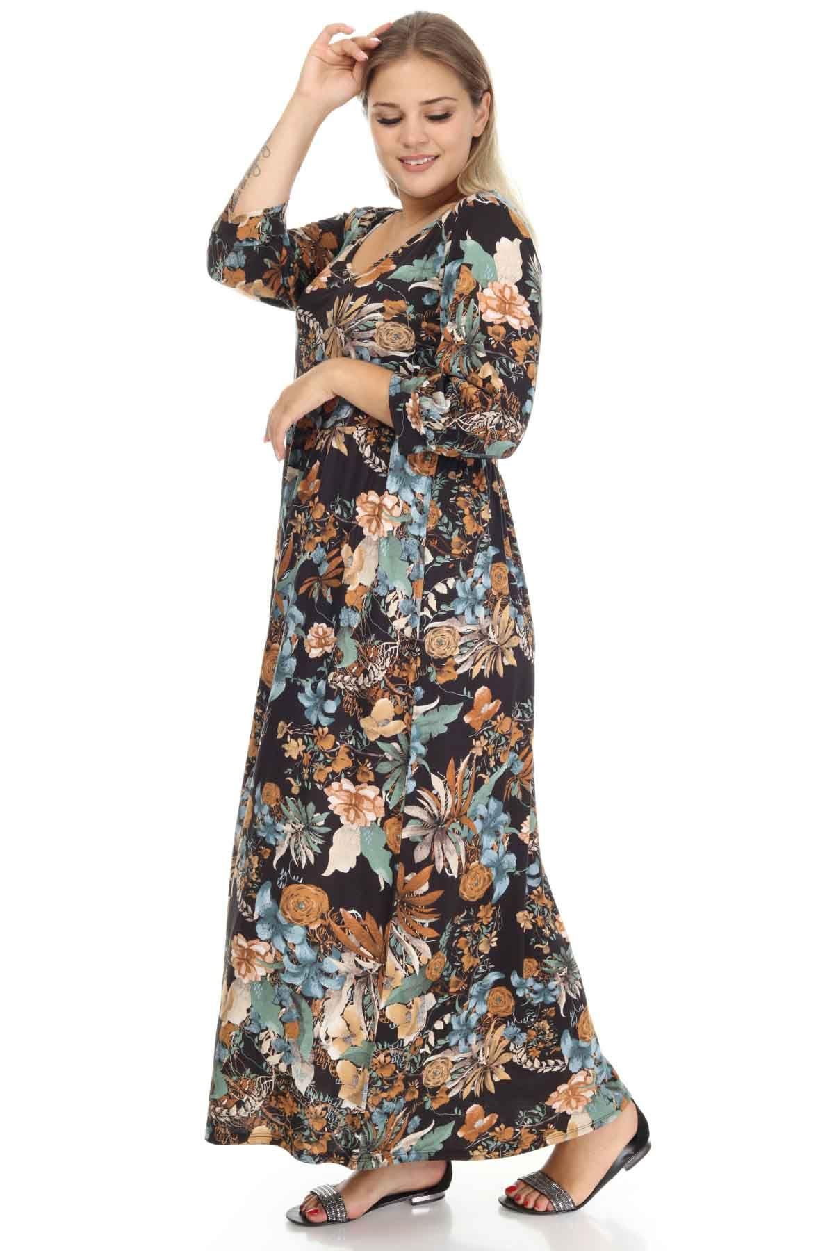 Truvakar Kol Büyük Beden Elbise 2F-1253